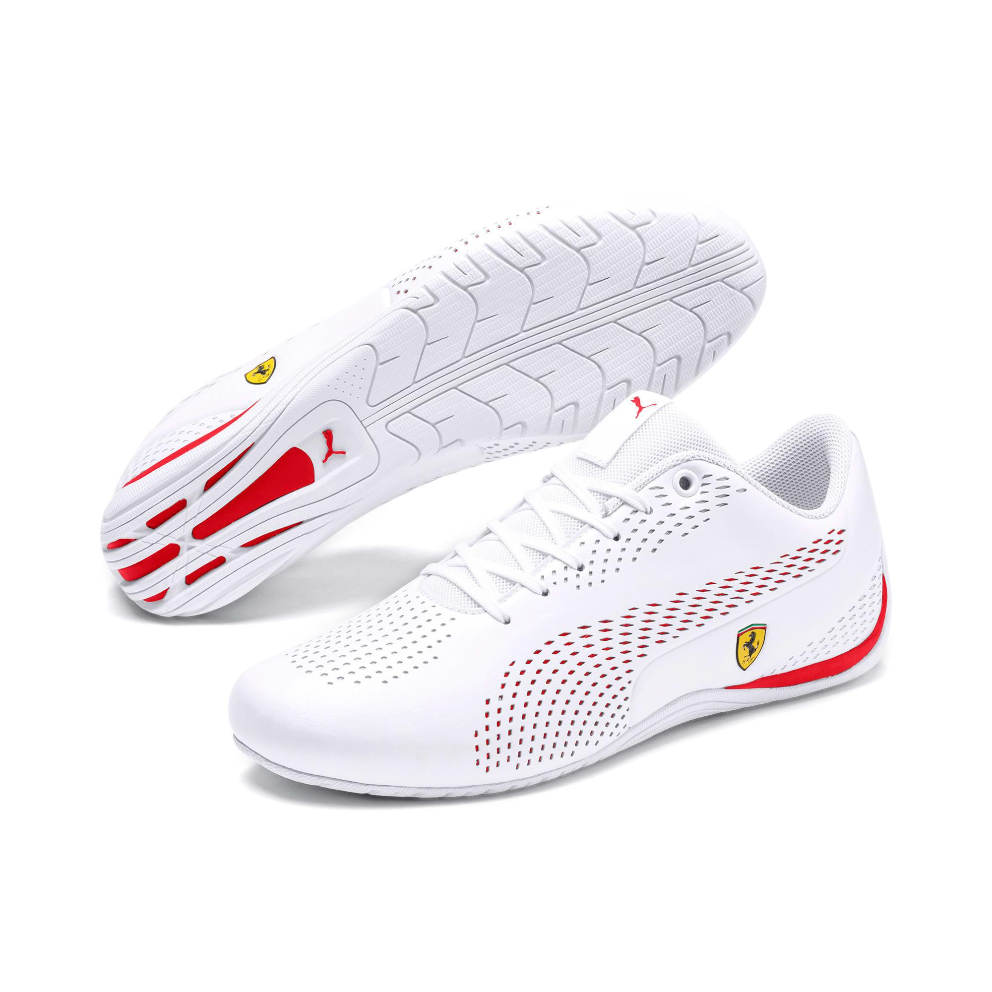 Thumbnail 3 of Ferrari Drift Cat 5 Ultra II Trainers, Puma White-Rosso Corsa, medium-IND
