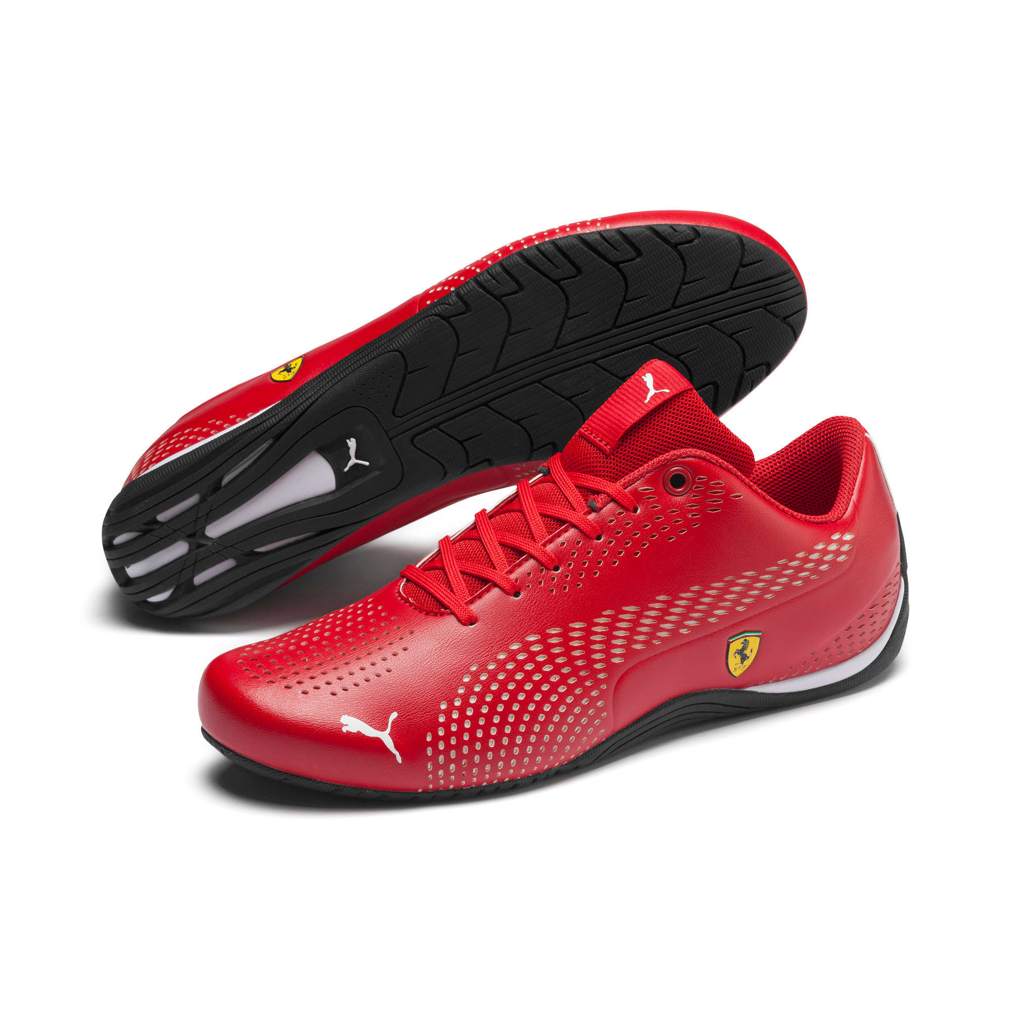 Thumbnail 3 of Ferrari Drift Cat 5 Ultra II Trainers, Rosso Corsa-Puma White, medium