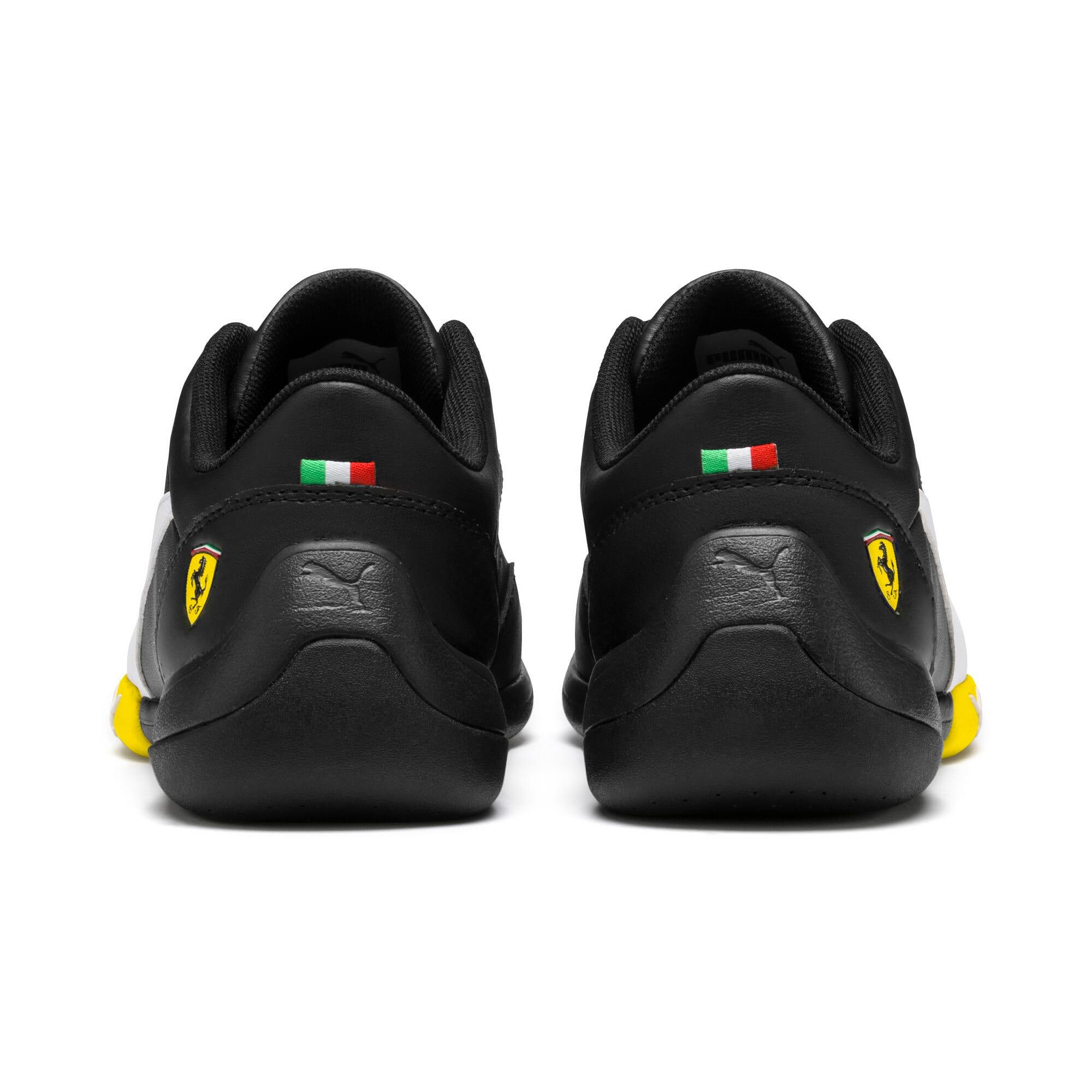 Thumbnail 4 of Ferrari Kart Cat III Youth Trainers, Black-White-Blazing Yellow, medium