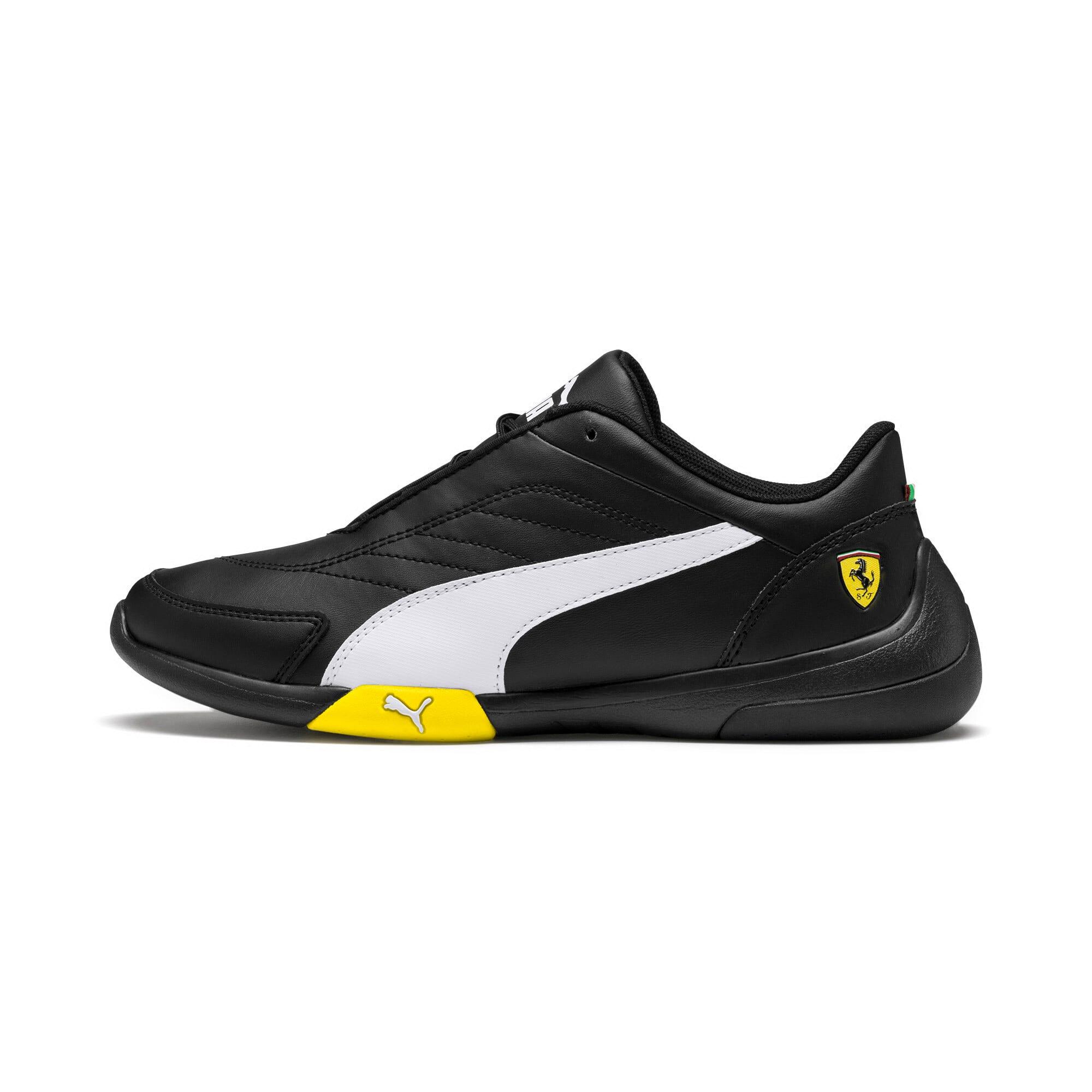 Thumbnail 1 of Ferrari Kart Cat III Youth Trainers, Black-White-Blazing Yellow, medium