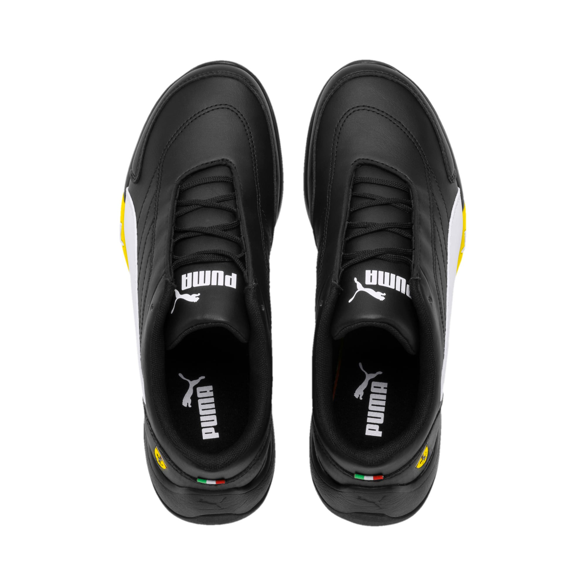Thumbnail 6 of Ferrari Kart Cat III Youth Trainers, Black-White-Blazing Yellow, medium-IND