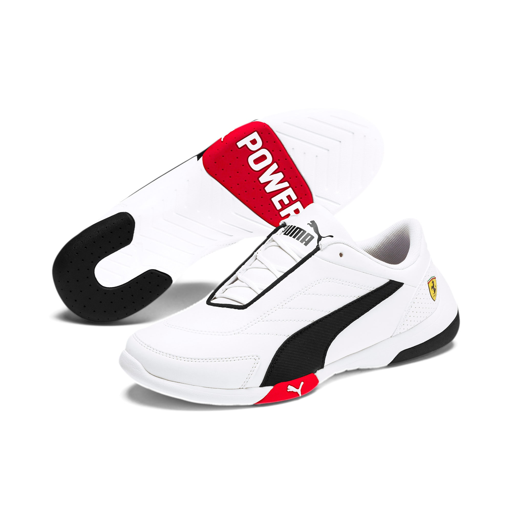 Ferrari Kart Cat III Youth sneakers, White-Black-Rosso Corsa, large