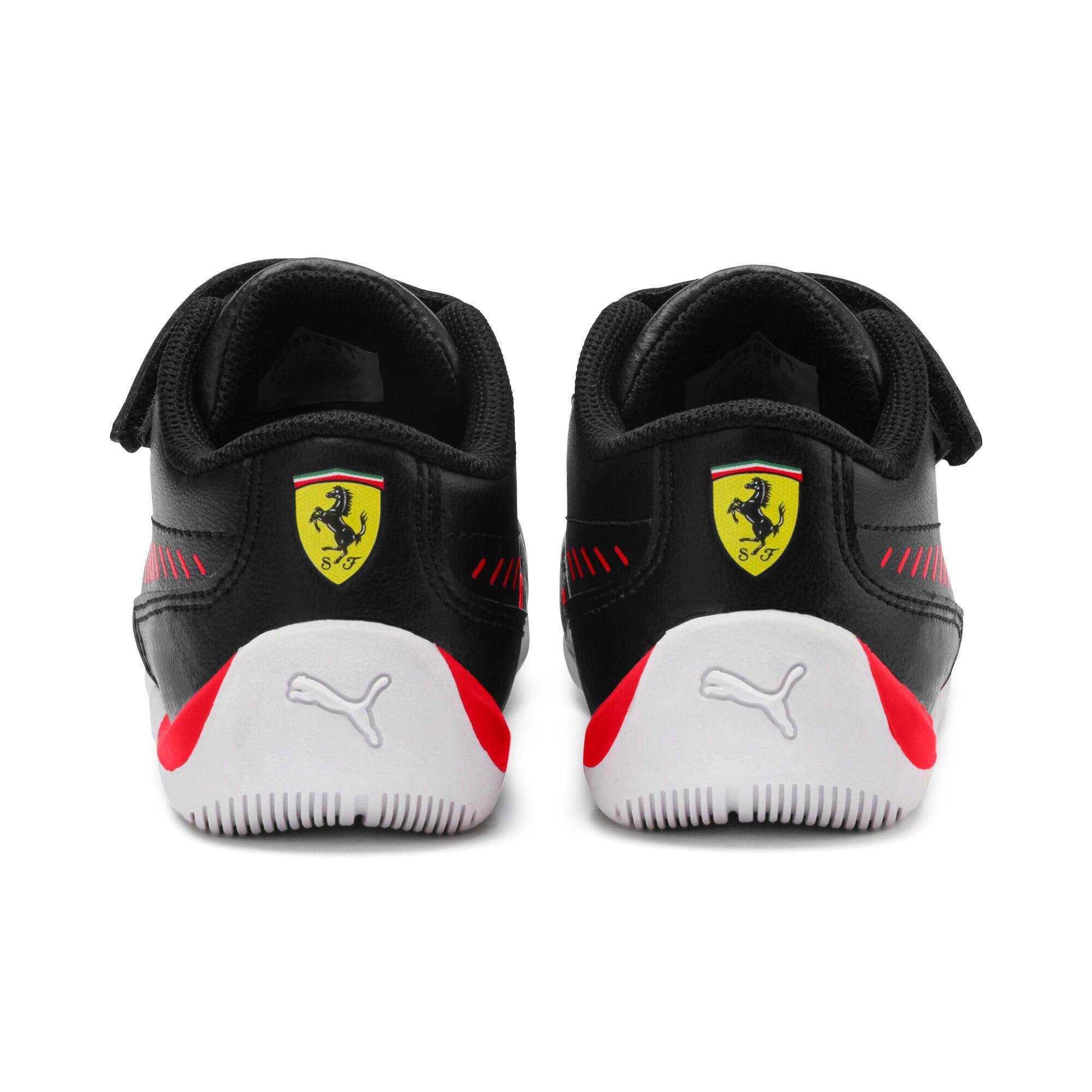 Thumbnail 3 of Ferrari Drift Cat 7S Ultra Kids' Trainers, Puma Black-Rosso Corsa, medium-SEA