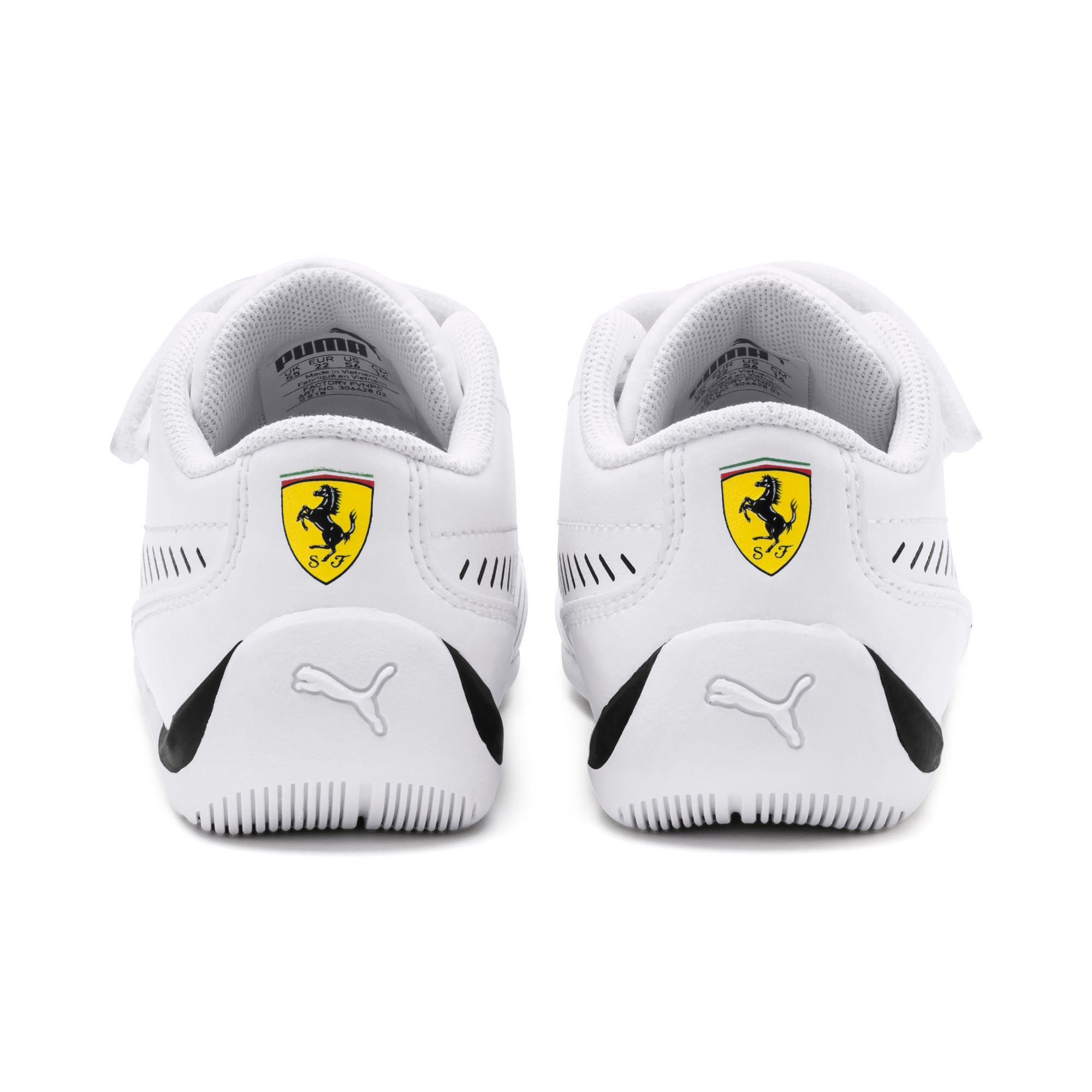Thumbnail 3 of Ferrari Drift Cat 7S Ultra Kids' Trainers, Puma White-Puma Black, medium-IND