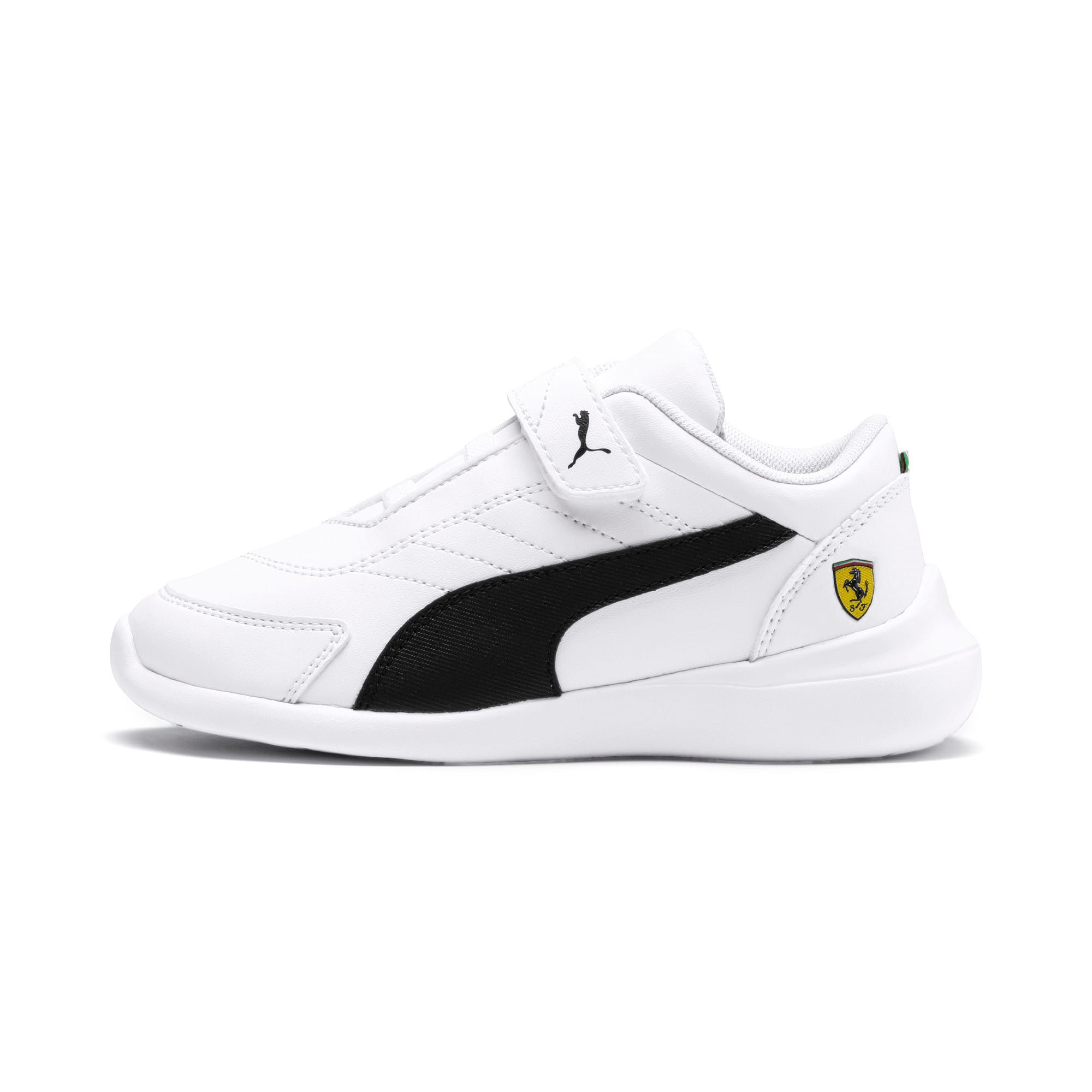 Thumbnail 1 of Ferrari Kart Cat III Kids' Trainers, White-Black-Rosso Corsa, medium
