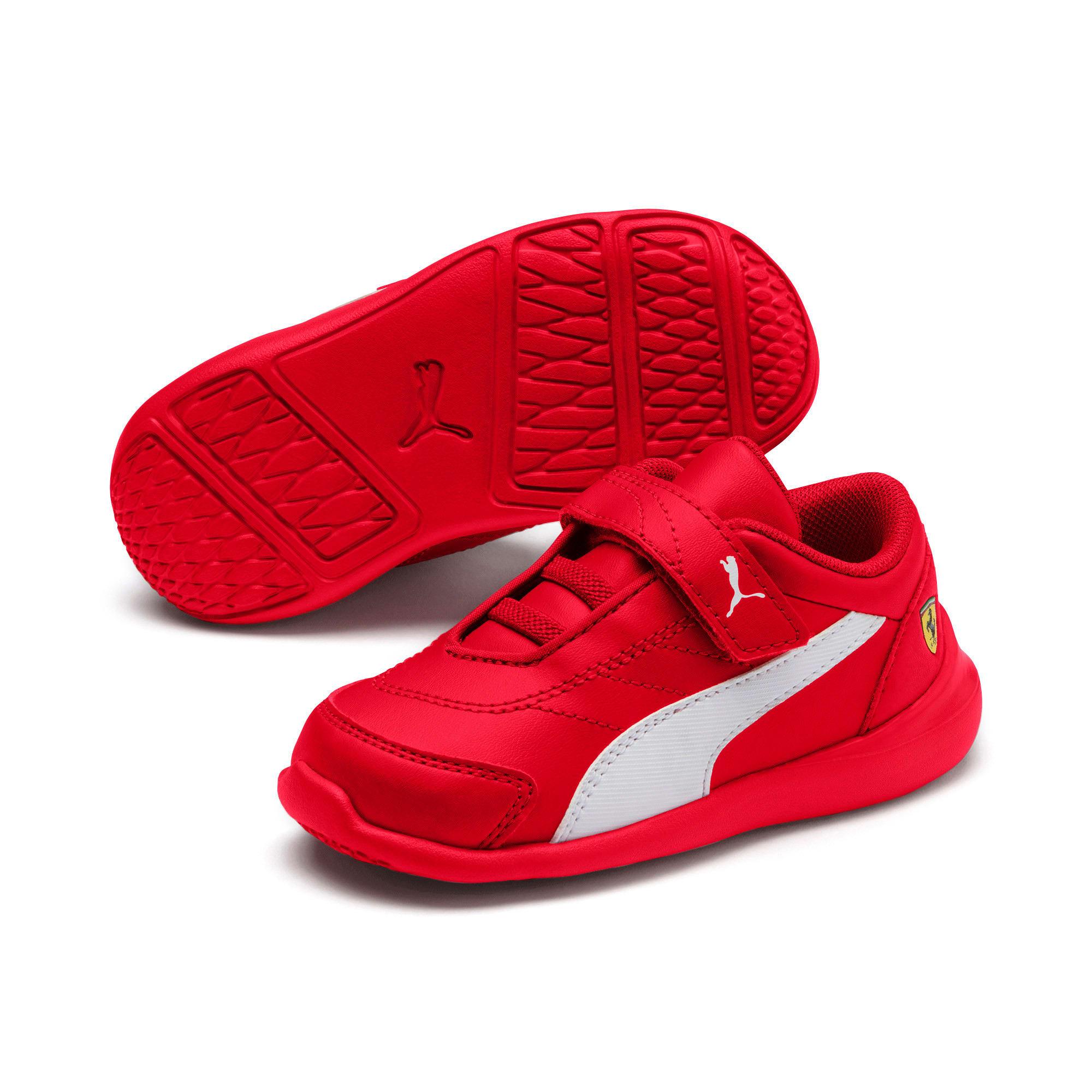 Miniatura 2 de Zapatos Scuderia Ferrari Kart Cat III para bebés, Rosso Corsa-Wht-Rosso Corsa, mediano