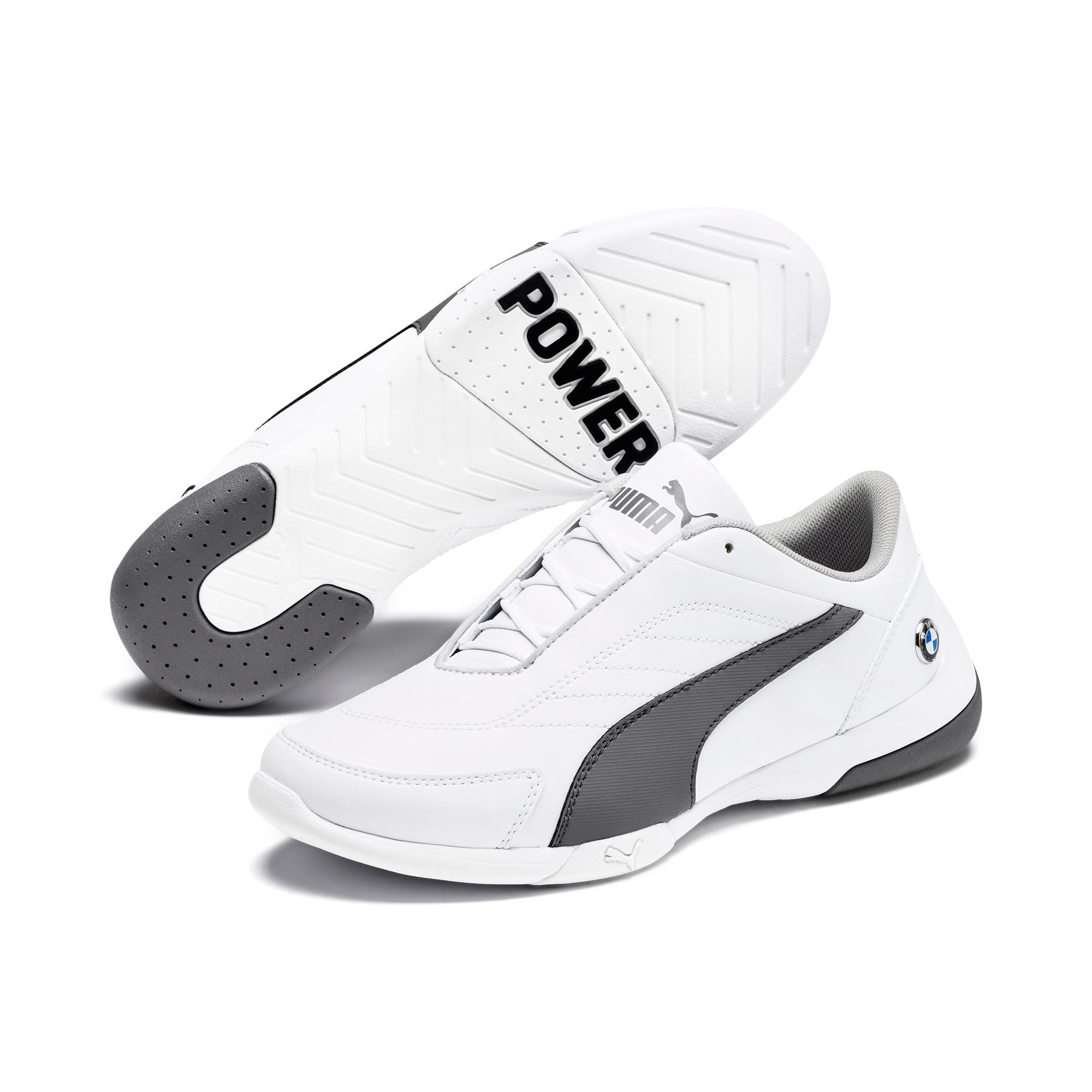 Thumbnail 2 of BMW M Kart Cat III Youth Trainers, Puma White-Smoked Pearl, medium-IND