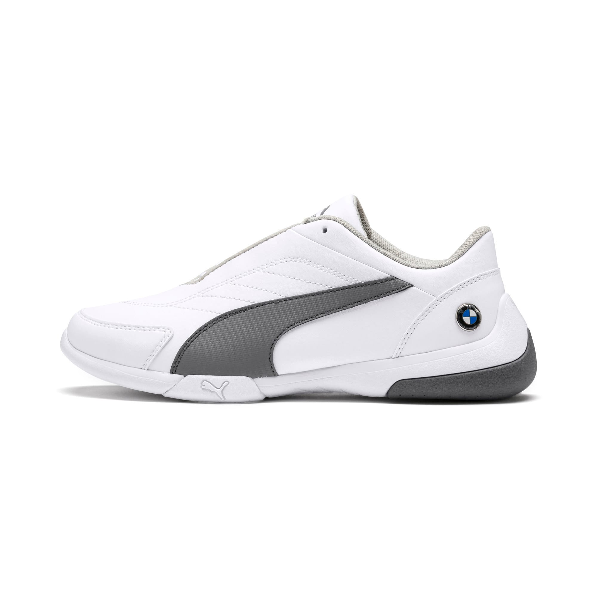 Thumbnail 1 of BMW M Kart Cat III Youth Trainers, Puma White-Smoked Pearl, medium-IND