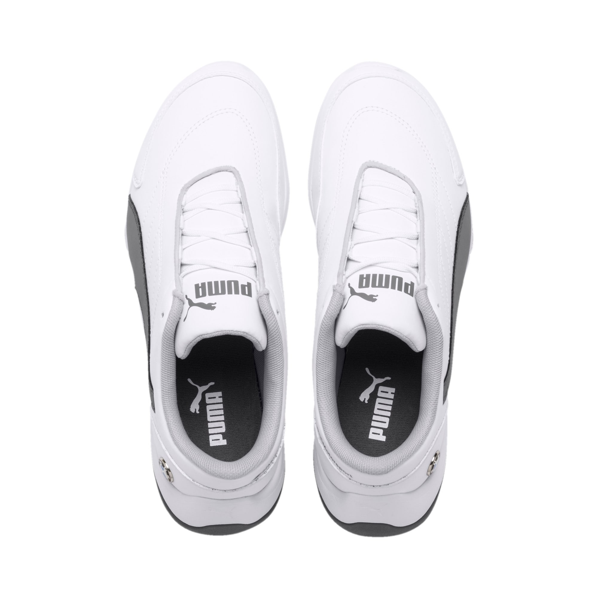 BMW MMS Kart Cat III Shoes JR, Puma White-Smoked Pearl, large