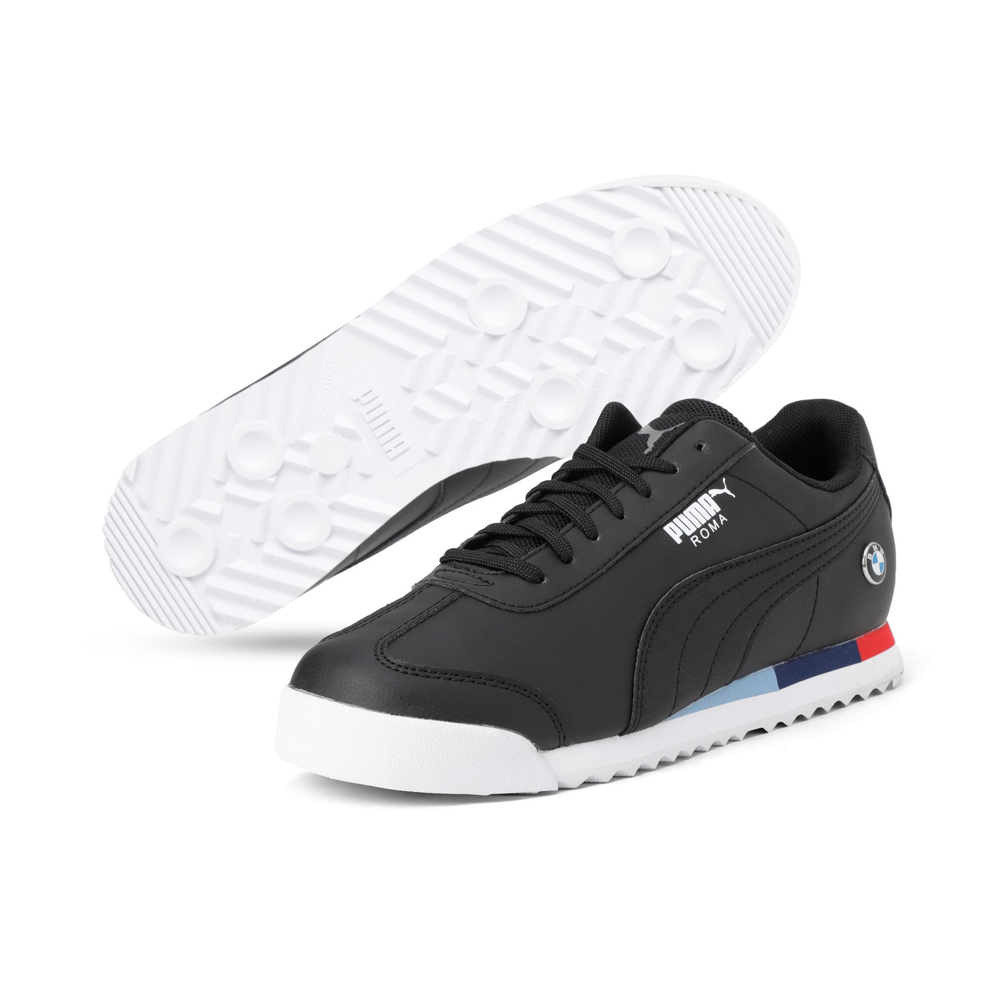 Thumbnail 2 of BMW Motorsport Roma Youth Trainers, Puma Black-Puma Black, medium-IND