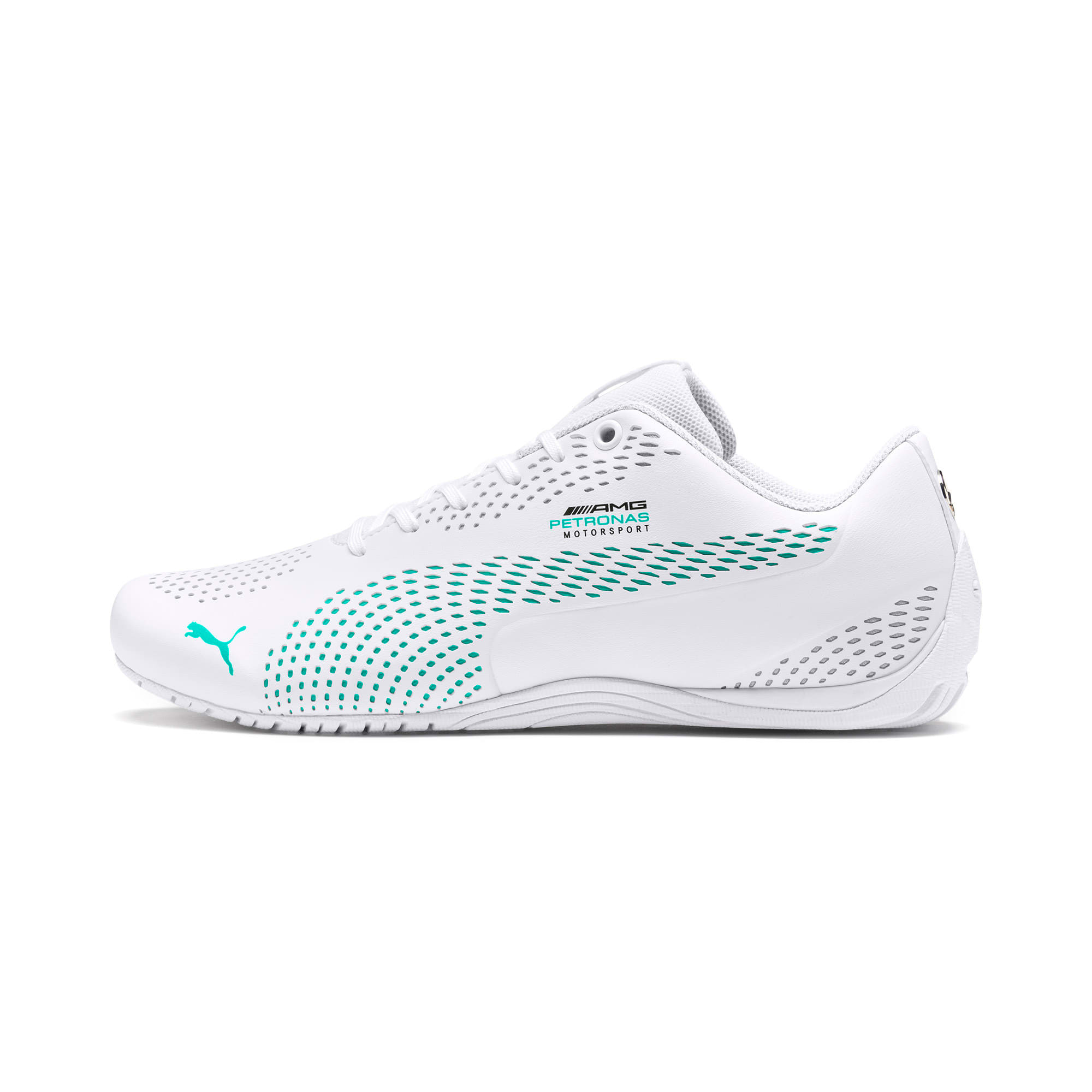 Thumbnail 1 of Mercedes AMG Petronas Drift Cat 5 Ultra II Trainers, Puma White-Spectra Green, medium