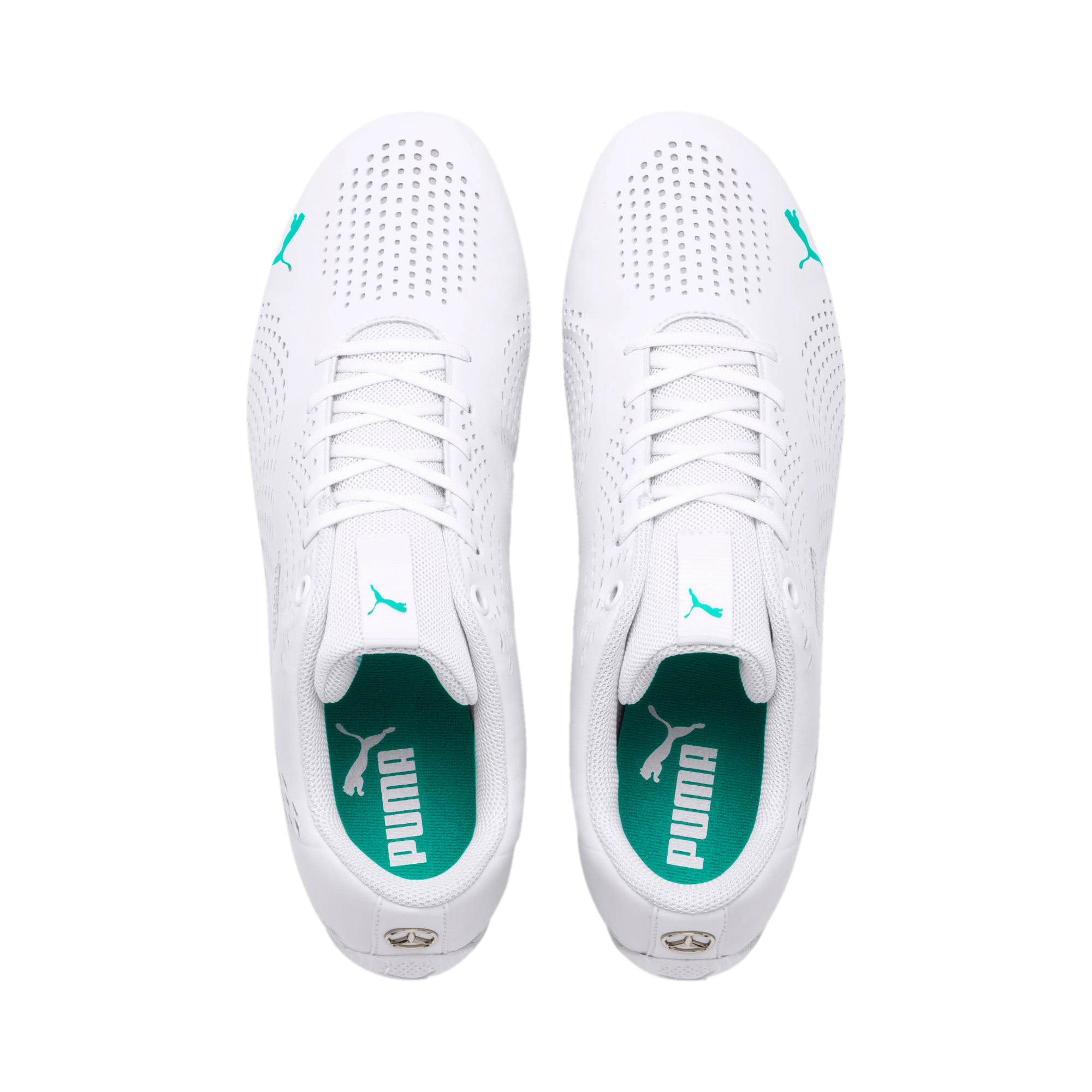Thumbnail 7 of Mercedes AMG Petronas Drift Cat 5 Ultra II Trainers, Puma White-Spectra Green, medium
