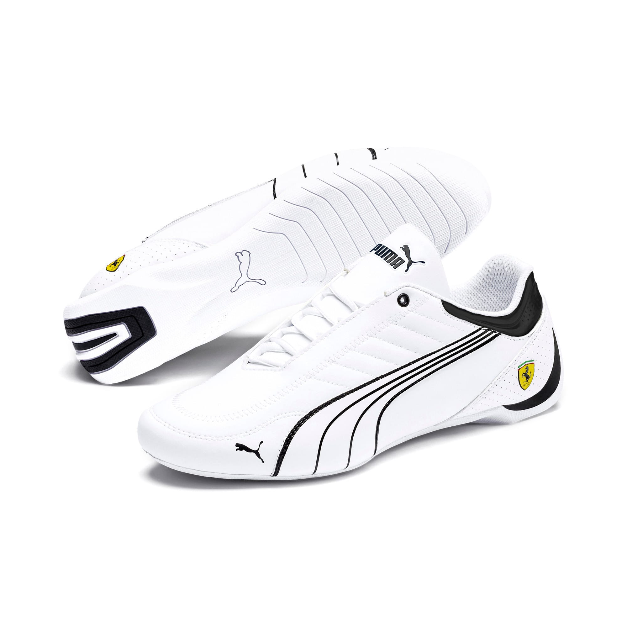 Thumbnail 3 of Scuderia Ferrari Future Kart Cat Shoes, White-Black-Galaxy Blue, medium