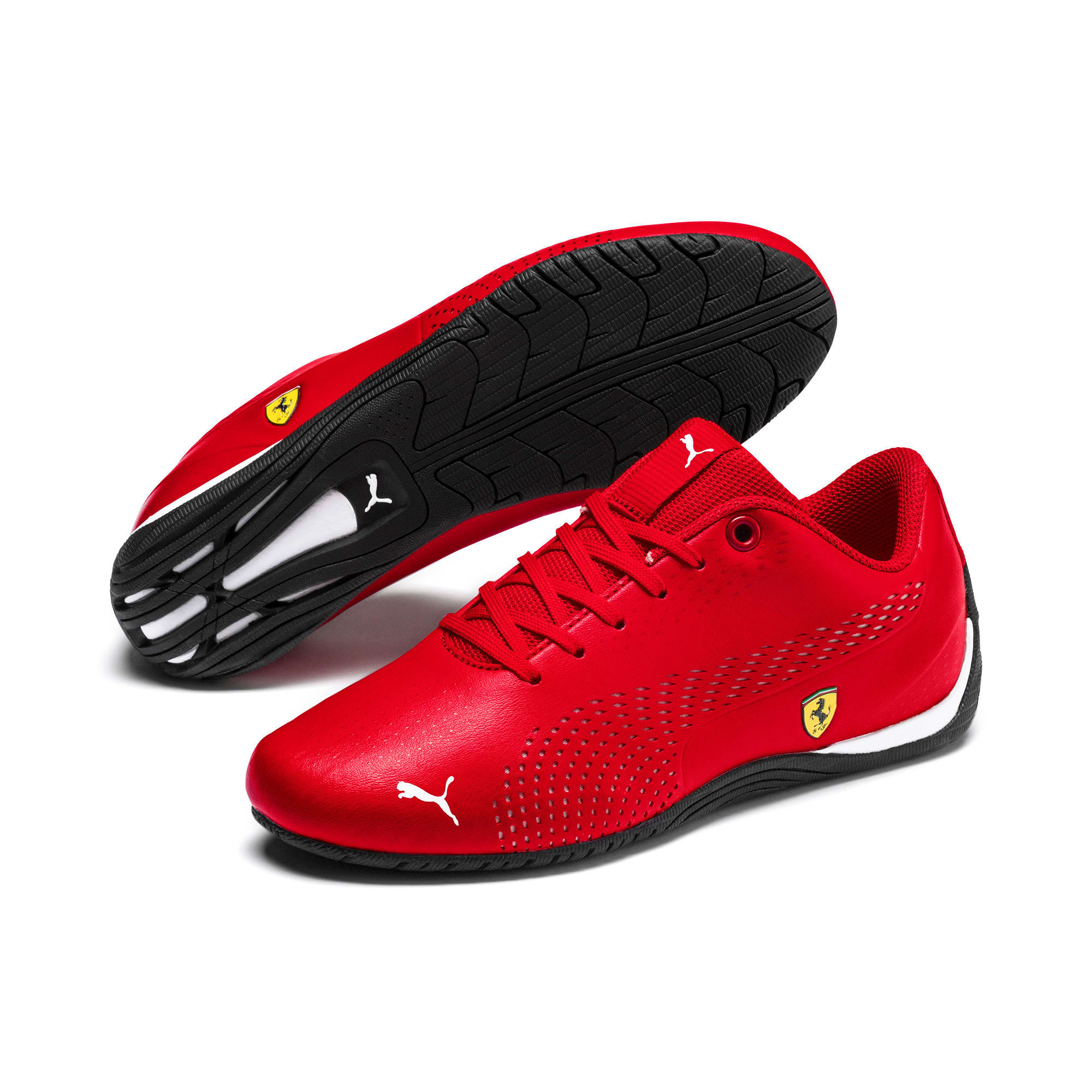 Thumbnail 6 of Ferrari Drift Cat 5 Ultra II Youth Trainers, Rosso Corsa-Puma White, medium-IND
