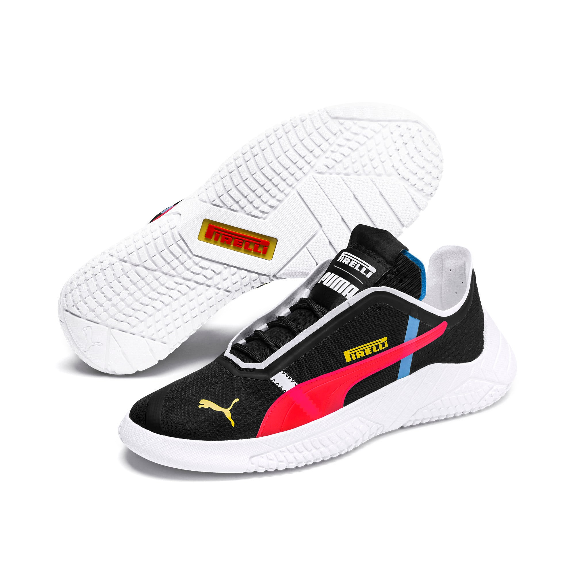 Thumbnail 3 of Pirelli Replicat-X Trainers, Black-Puma Red- White, medium