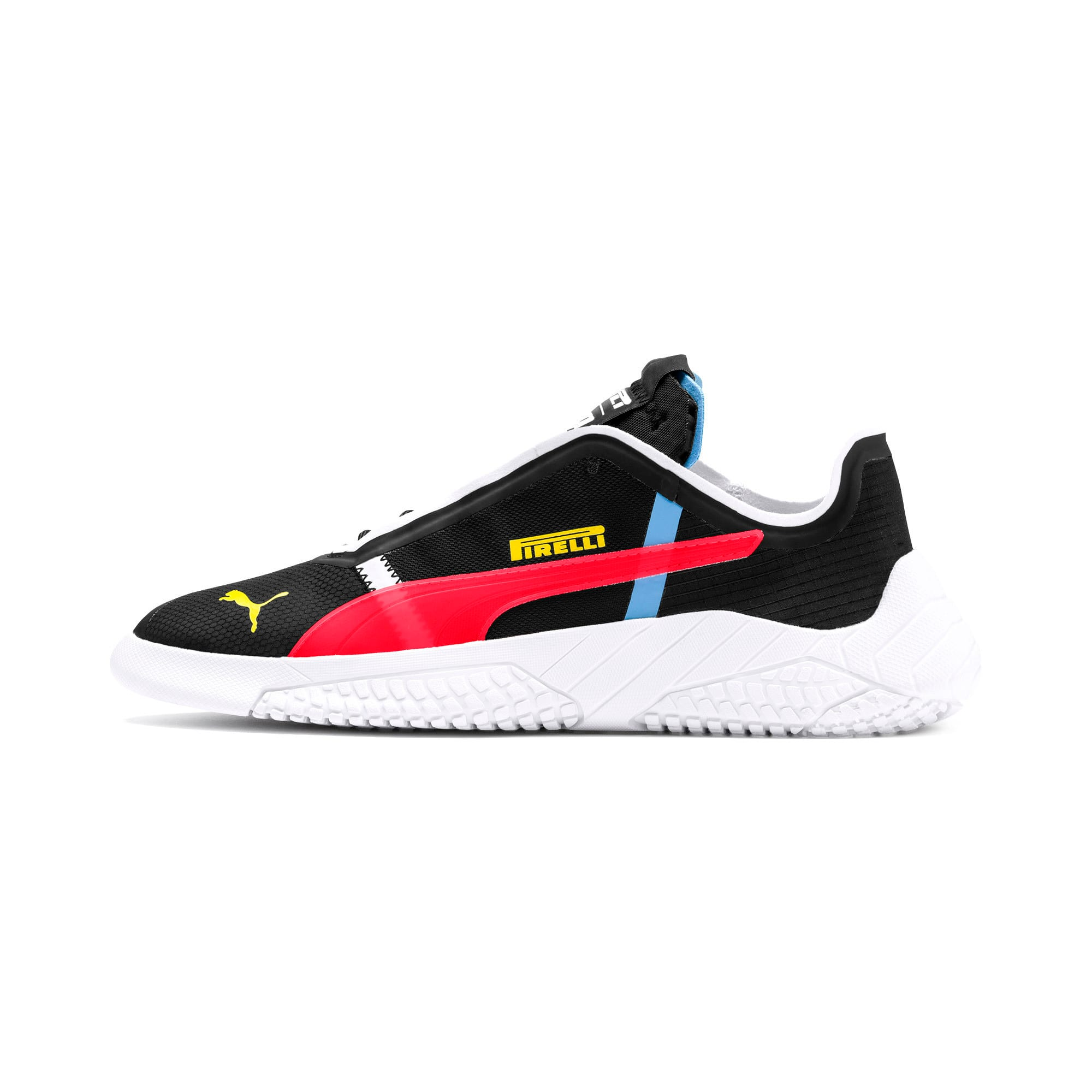 Thumbnail 1 of Pirelli Replicat-X Trainers, Black-Puma Red- White, medium