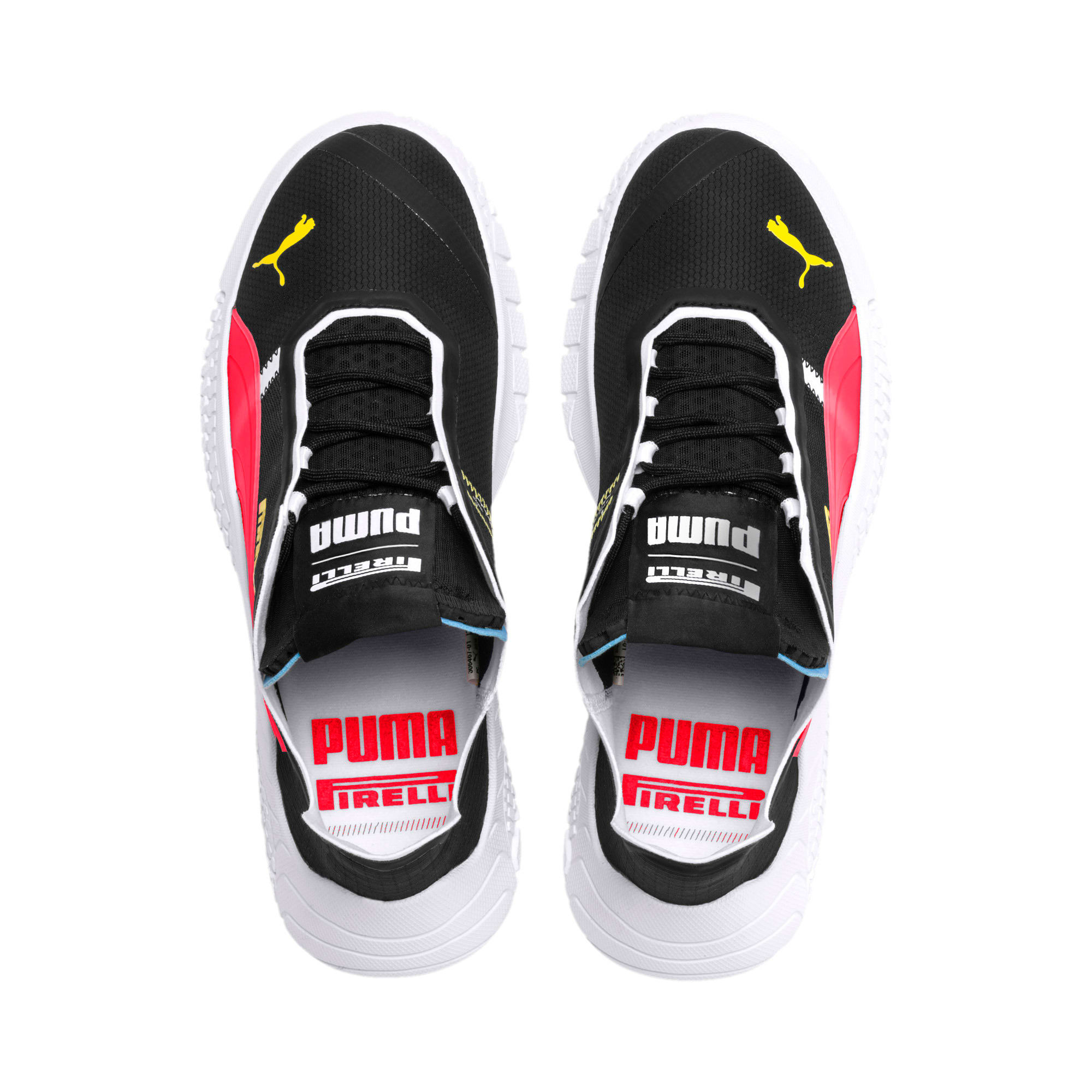Thumbnail 9 of Pirelli Replicat-X Trainers, Black-Puma Red- White, medium