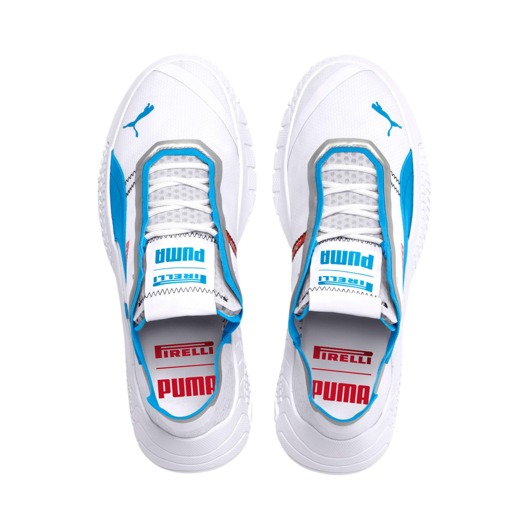 Thumbnail 9 of Pirelli Replicat-X Trainers, Puma White-AZURE BLUE, medium