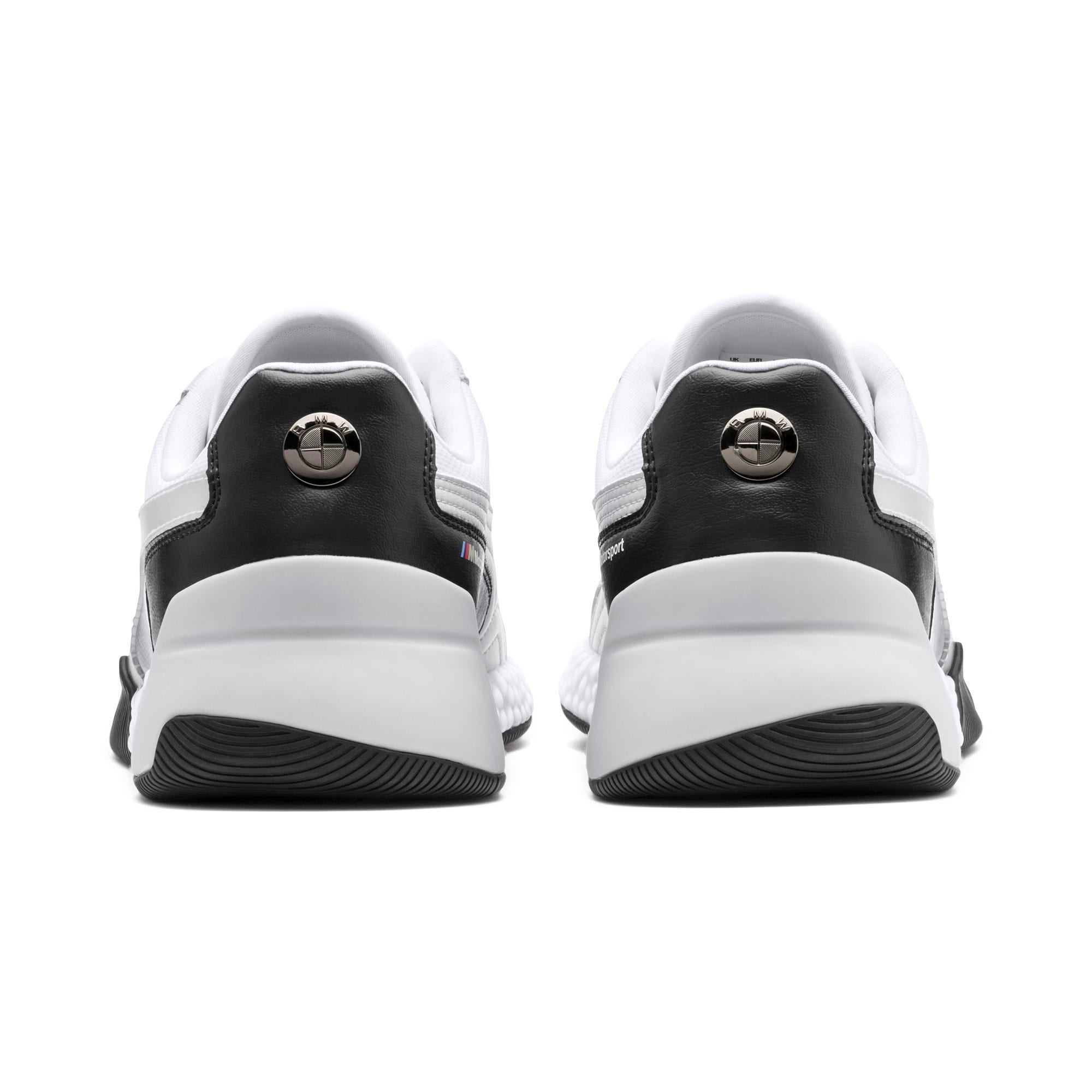 Thumbnail 4 of BMW M Motorsport Speed HYBRID Trainers, White-Glacier Gray-Black, medium