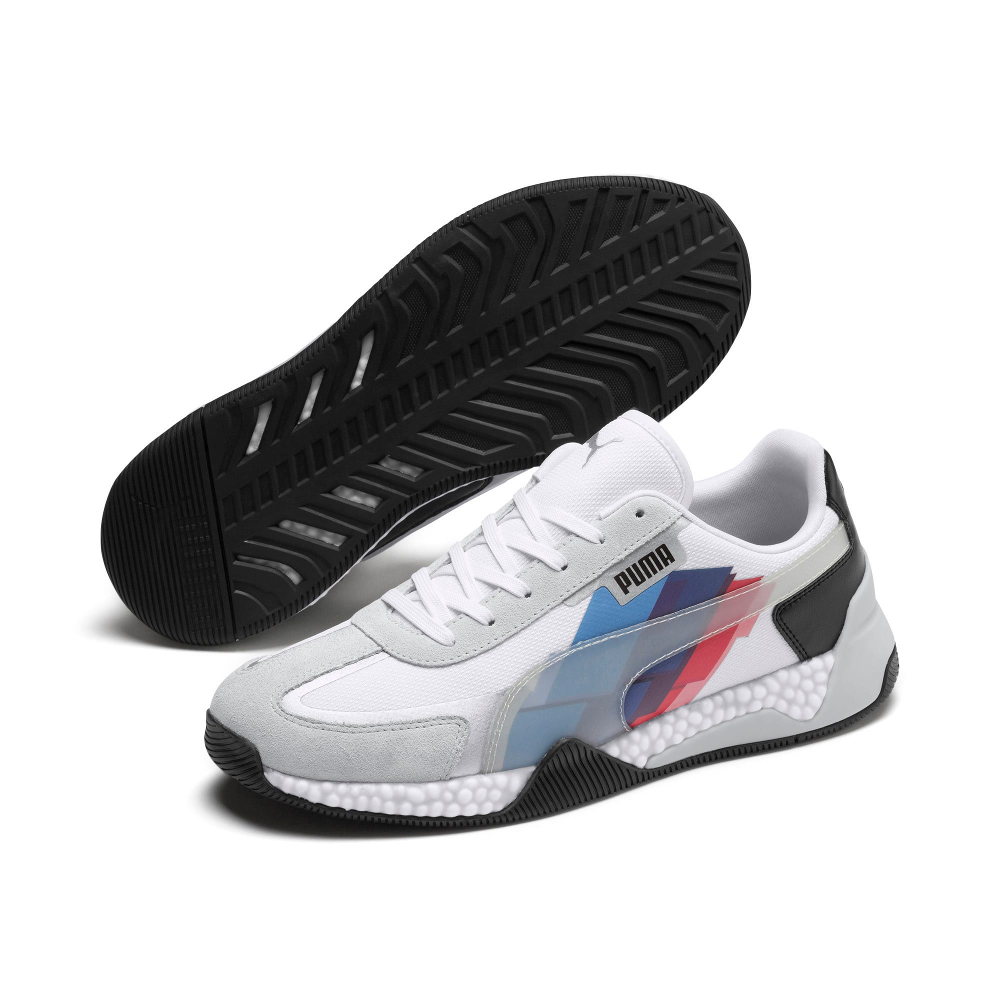 Thumbnail 3 of BMW M Motorsport Speed HYBRID Trainers, White-Glacier Gray-Black, medium