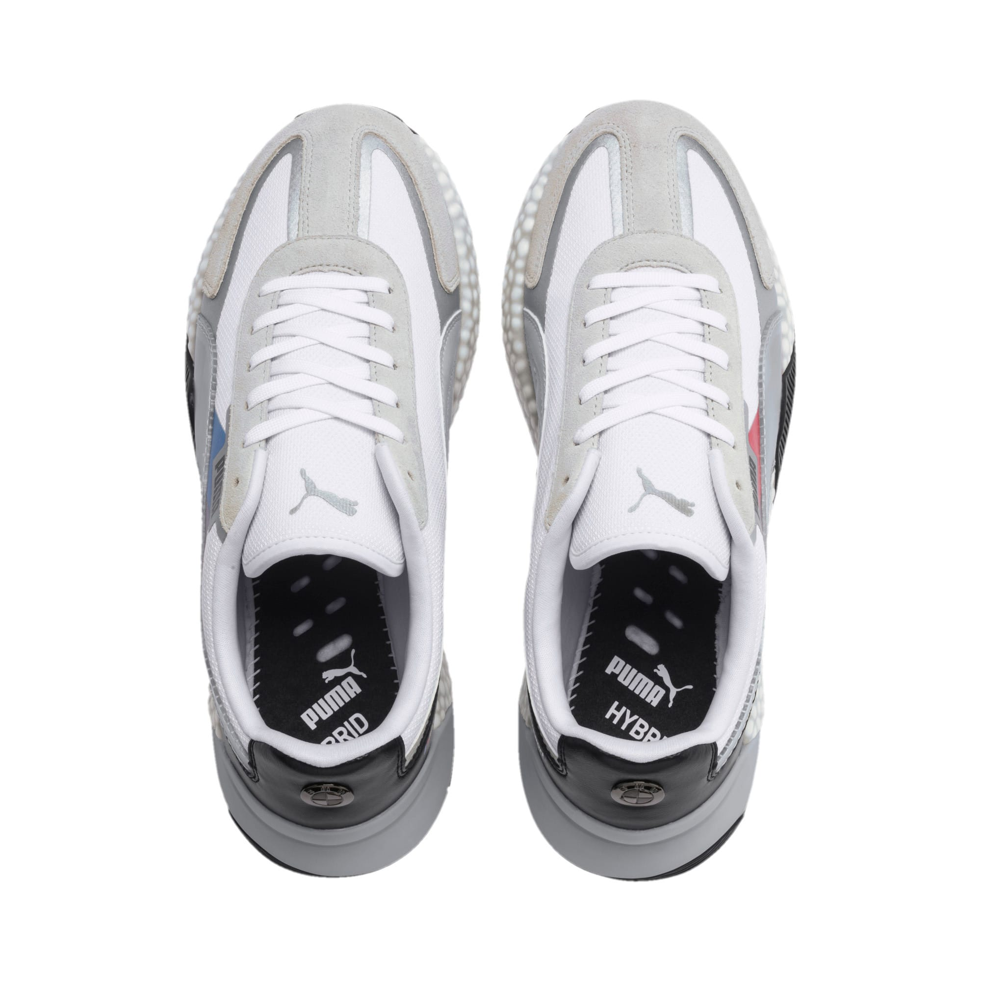 Thumbnail 7 of BMW M Motorsport Speed HYBRID Trainers, White-Glacier Gray-Black, medium