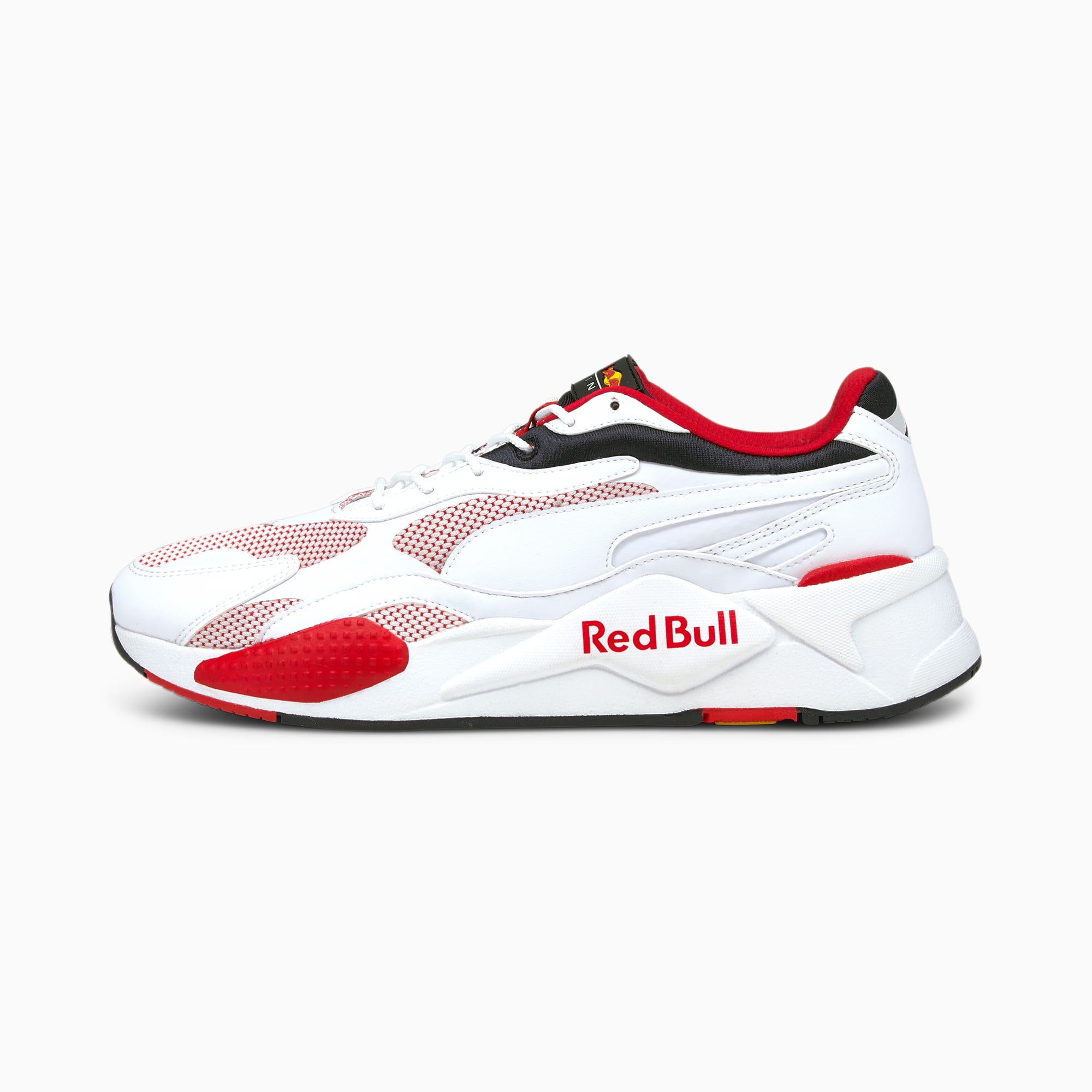 Red Bull Racing RS-X³ Men's Sneakers, Puma White-Puma White, extralarge