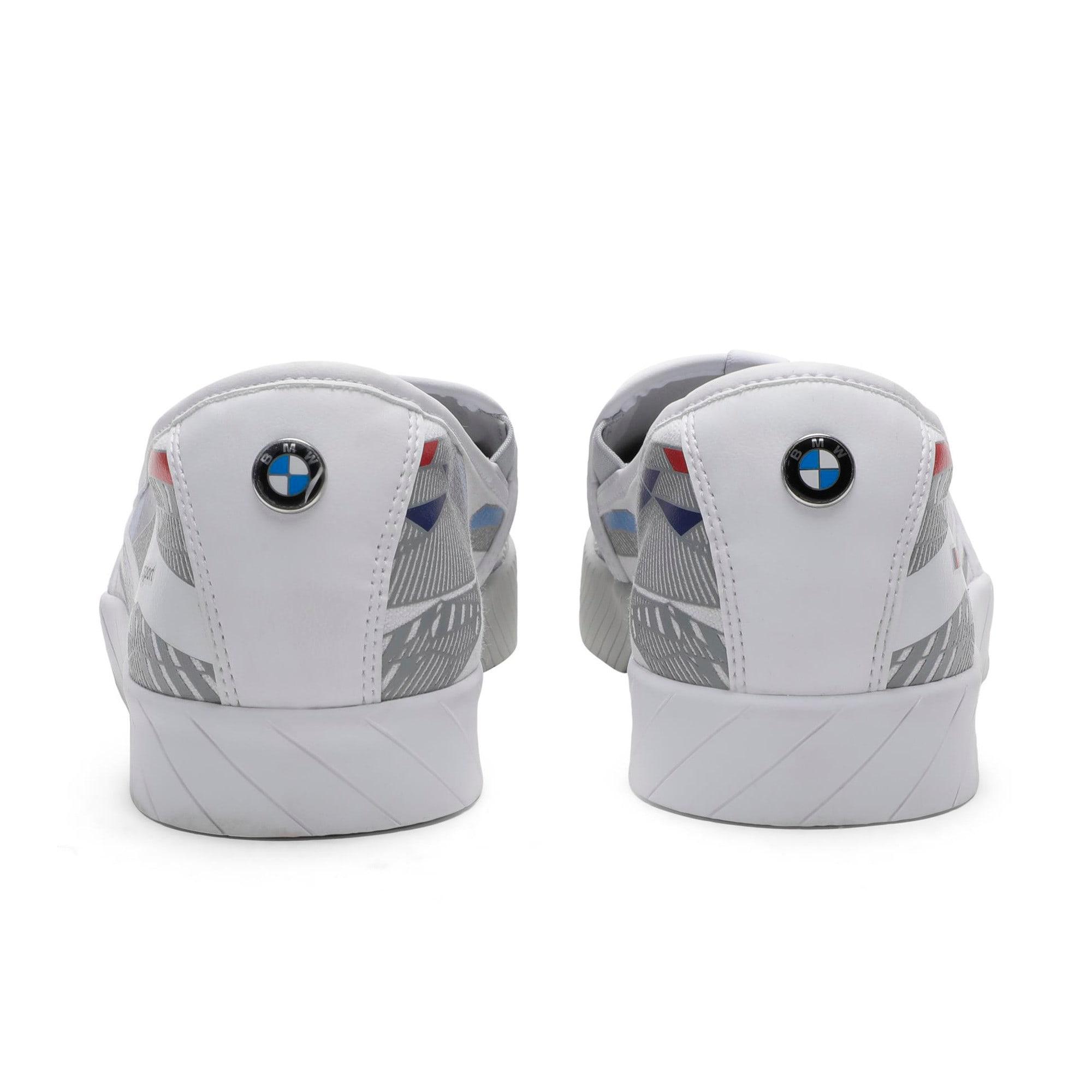 Thumbnail 5 of BMW M Slip-On Track Shoes, Puma White-Gray Violet, medium-IND