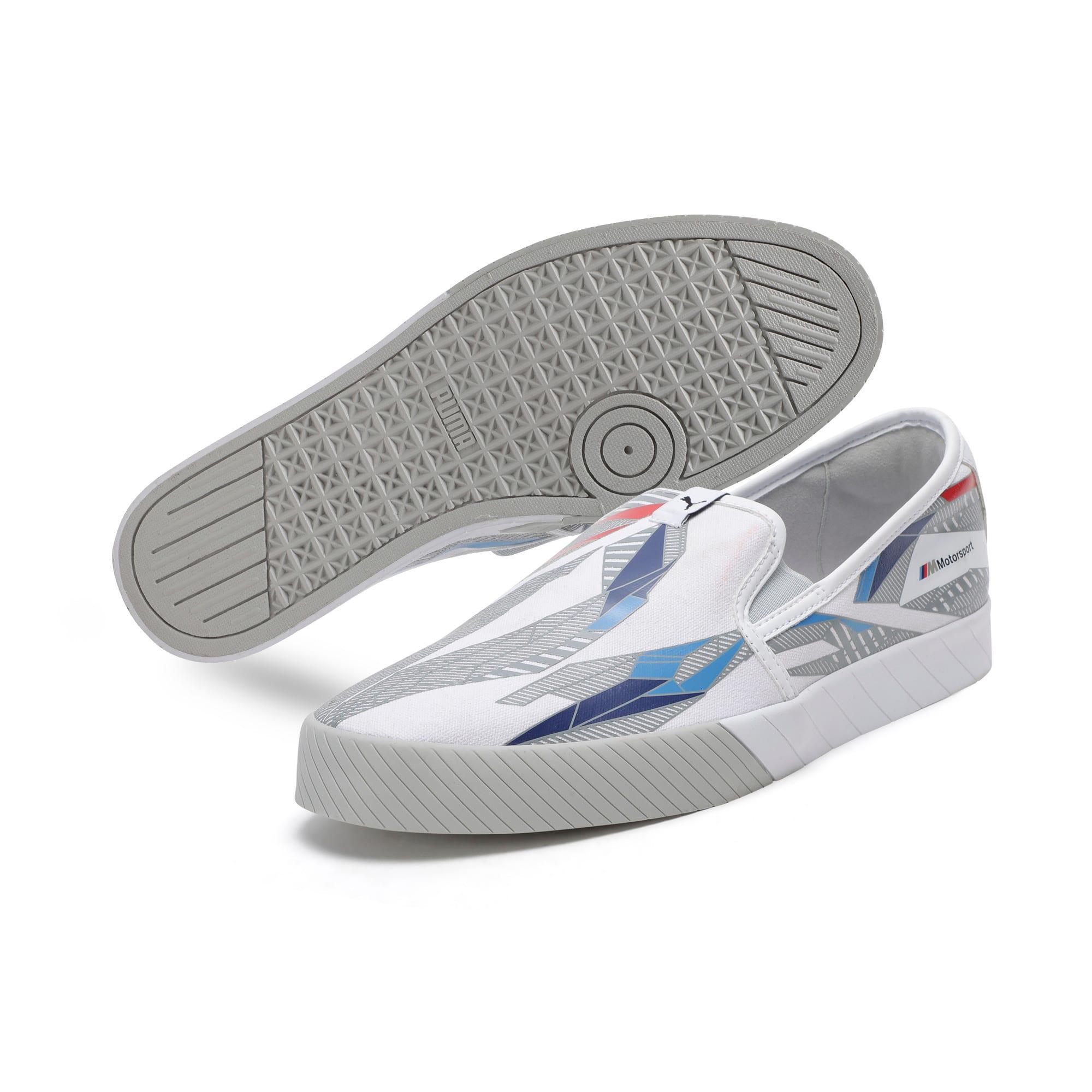 Thumbnail 4 of BMW M Slip-On Track Shoes, Puma White-Gray Violet, medium-IND