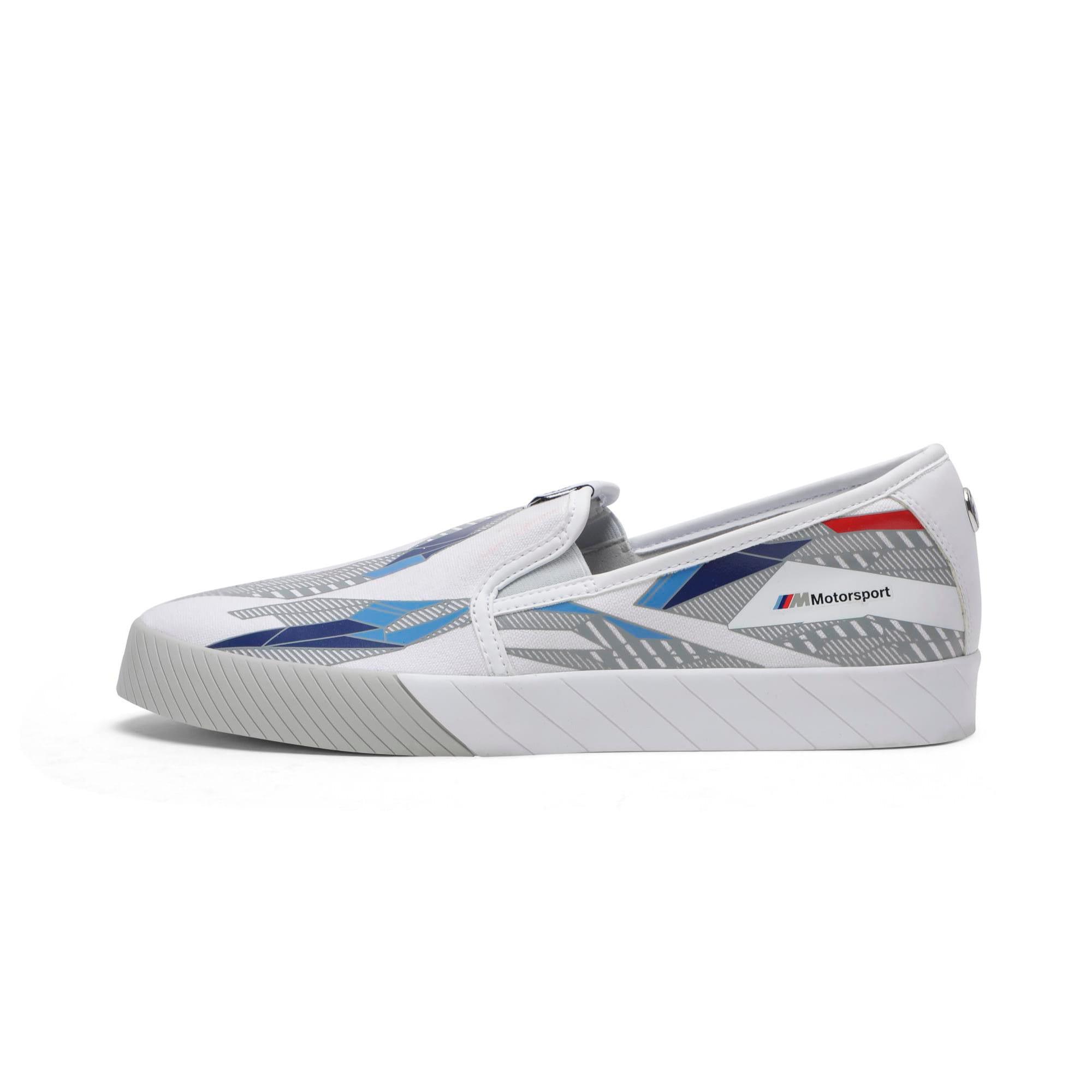 Thumbnail 1 of BMW M Slip-On Track Shoes, Puma White-Gray Violet, medium-IND