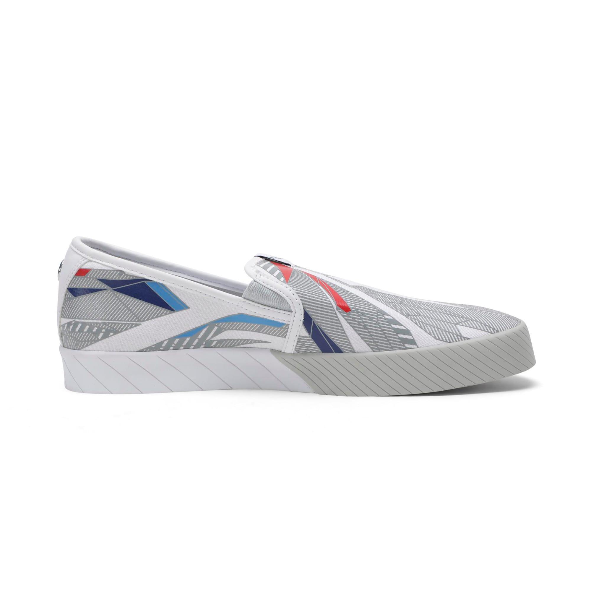 Thumbnail 7 of BMW M Slip-On Track Shoes, Puma White-Gray Violet, medium-IND