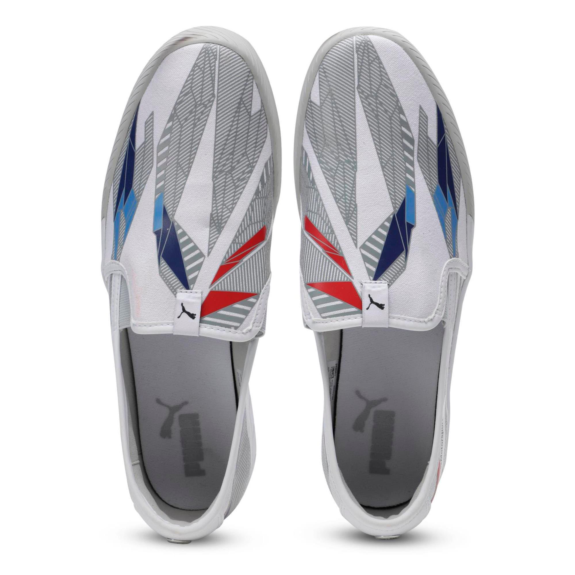 Thumbnail 8 of BMW M Slip-On Track Shoes, Puma White-Gray Violet, medium-IND
