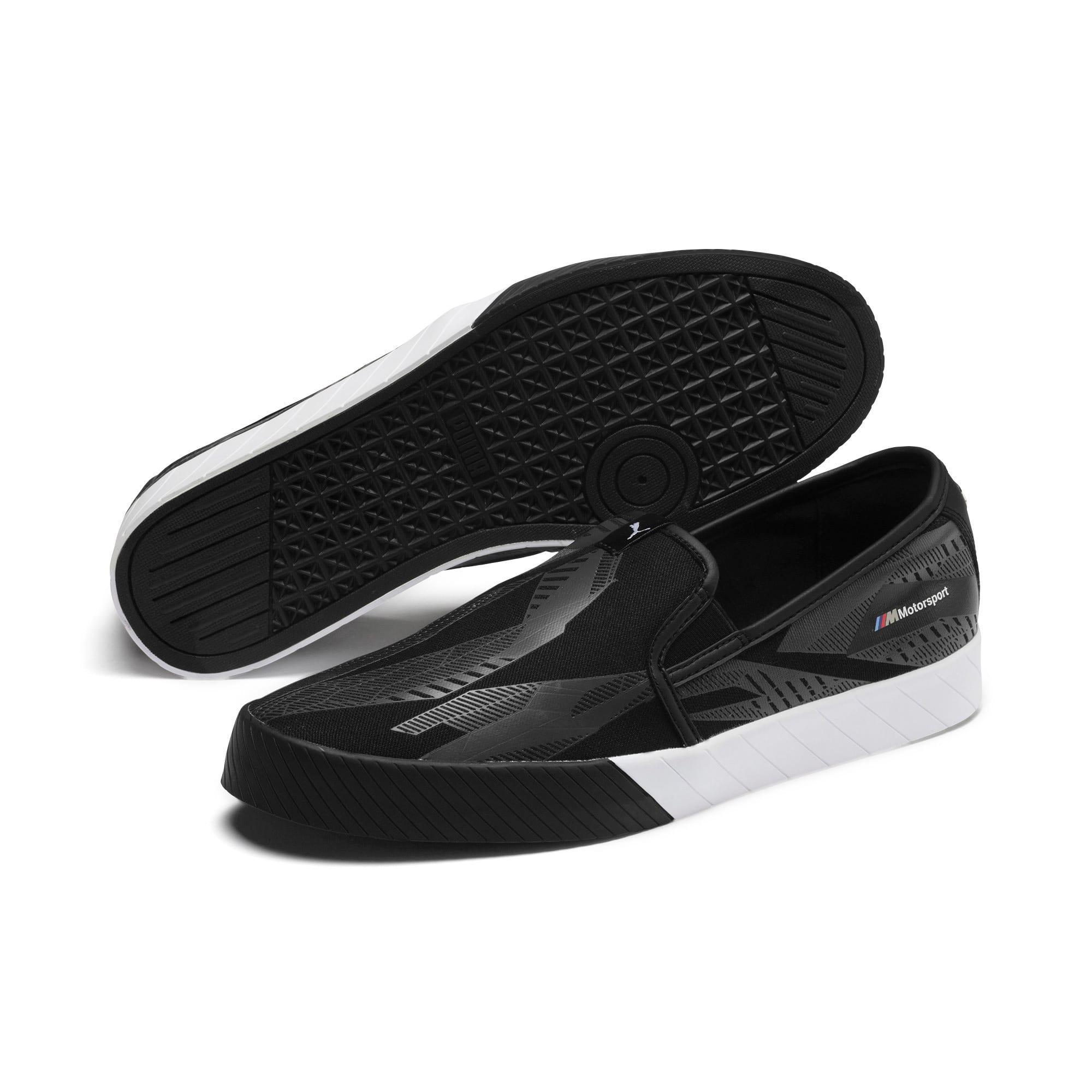 Thumbnail 4 of BMW M Slip-On Track Shoes, Puma Black-Puma Black, medium-IND