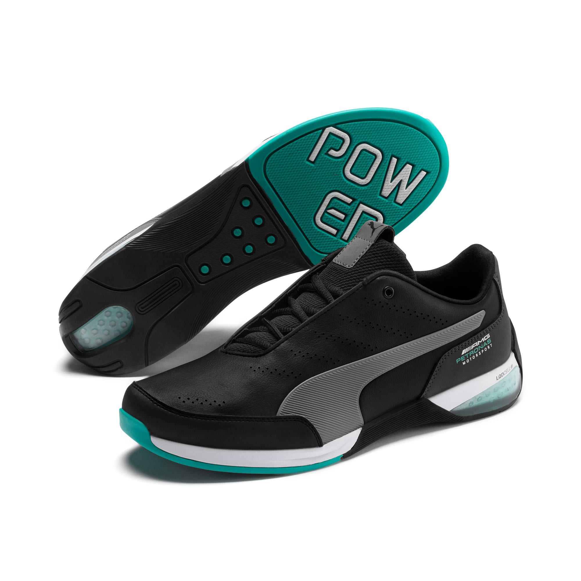 Thumbnail 3 of Mercedes AMG Petronas Motorsport Kart Cat X Trainers, Puma Black-Smoked Pearl, medium