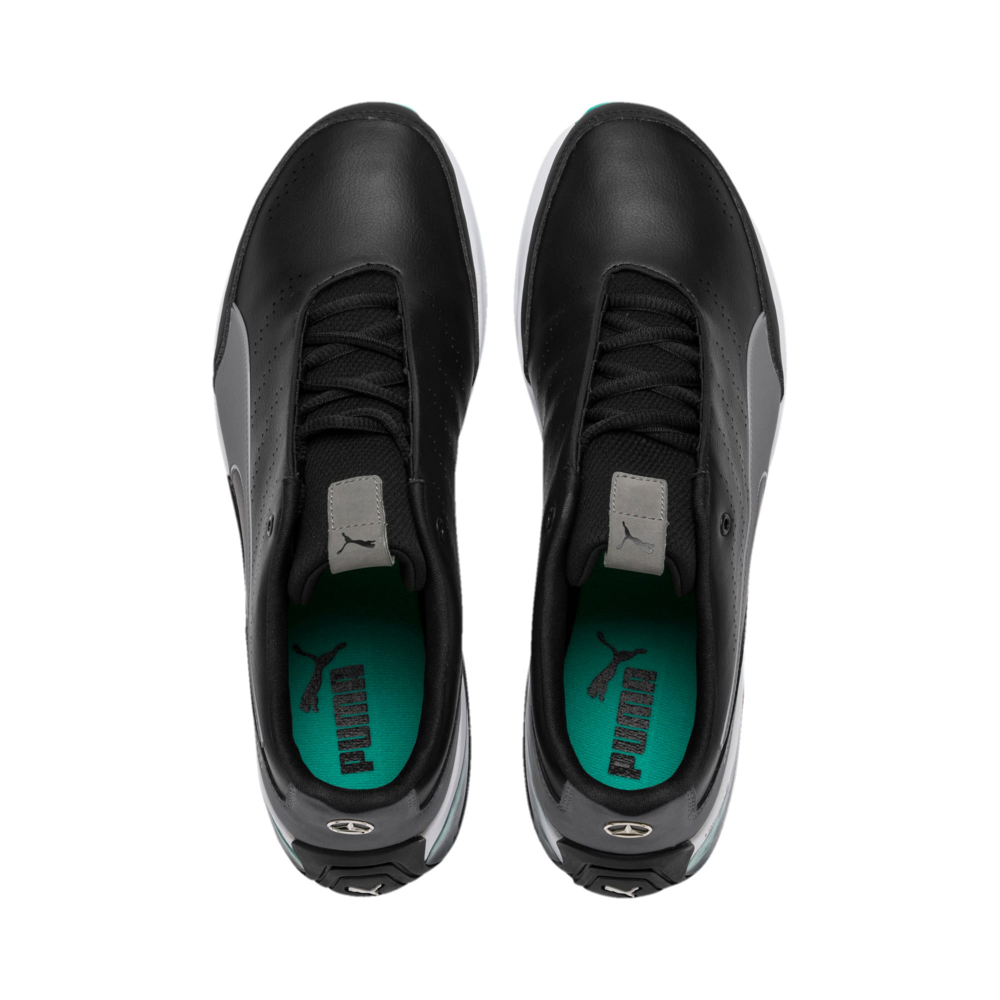 Mercedes AMG Petronas Motorsport Kart Cat X Trainers, Puma Black-Smoked Pearl, large-IND