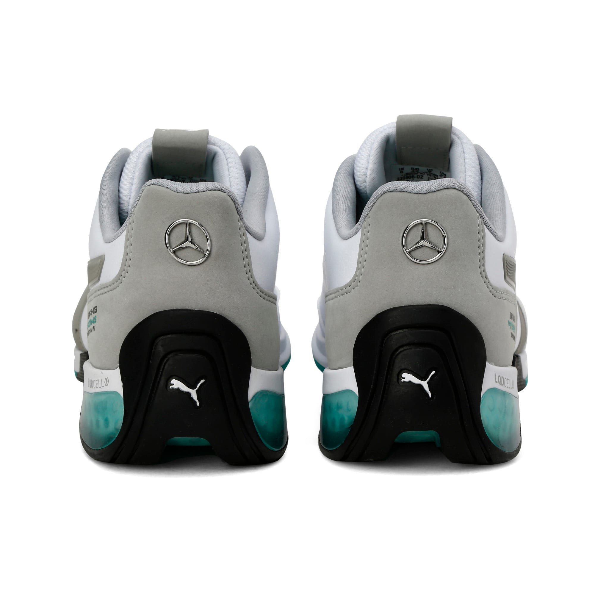Thumbnail 5 of Mercedes AMG Petronas Motorsport Kart Cat X Trainers, Puma White-Mercedes Silver, medium-IND