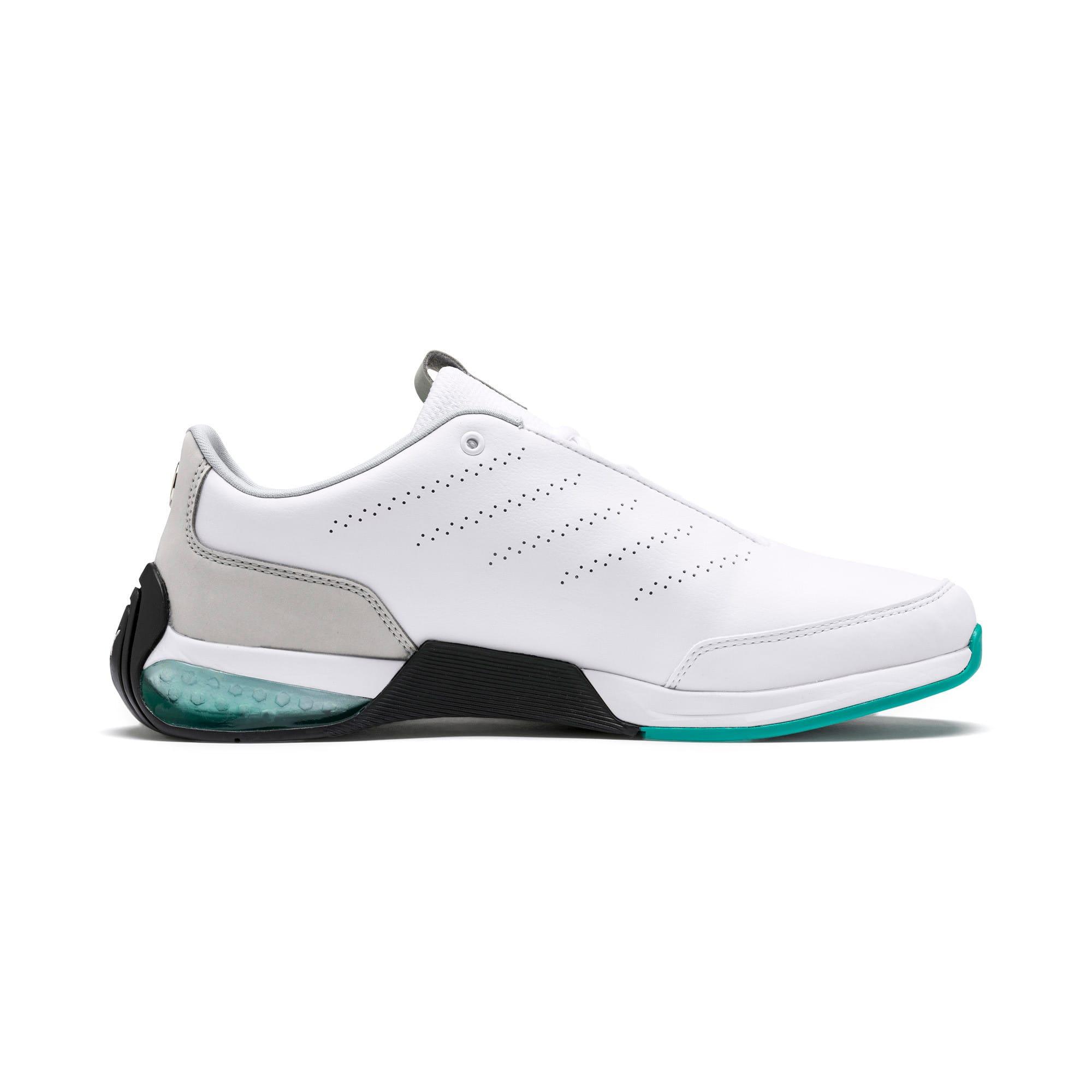 Thumbnail 6 of Mercedes AMG Petronas Kart Cat X Training Shoes, Puma White-Mercedes Silver, medium