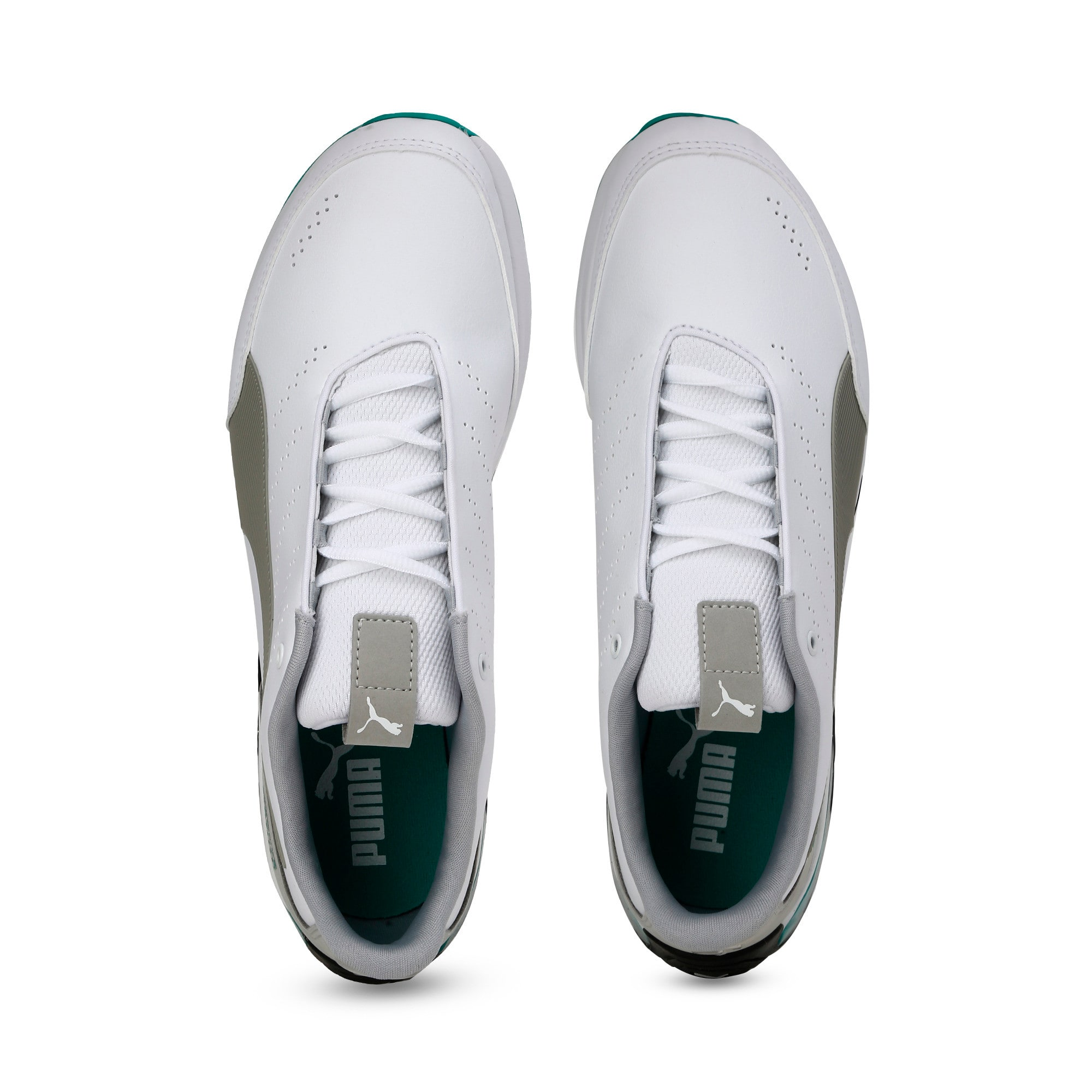 Thumbnail 8 of Mercedes AMG Petronas Motorsport Kart Cat X Trainers, Puma White-Mercedes Silver, medium-IND