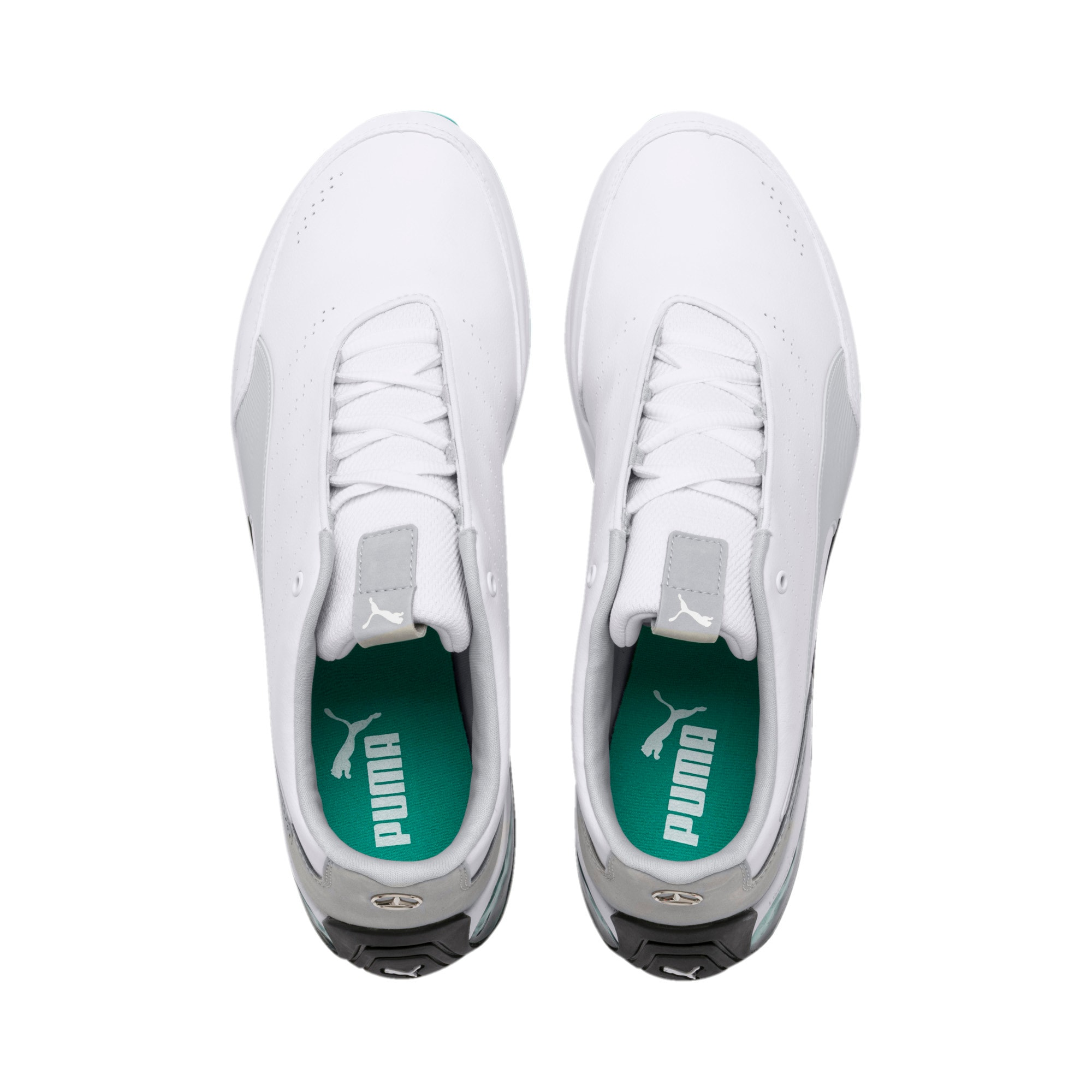 Thumbnail 7 of Mercedes AMG Petronas Kart Cat X Training Shoes, Puma White-Mercedes Silver, medium