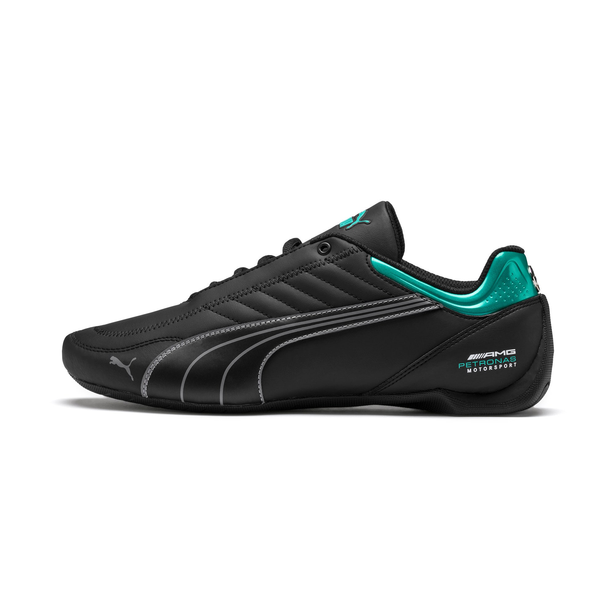 Thumbnail 1 of Mercedes AMG Petronas Motorsport Future Kart Cat Trainers, Puma Black-Smoked Pearl, medium
