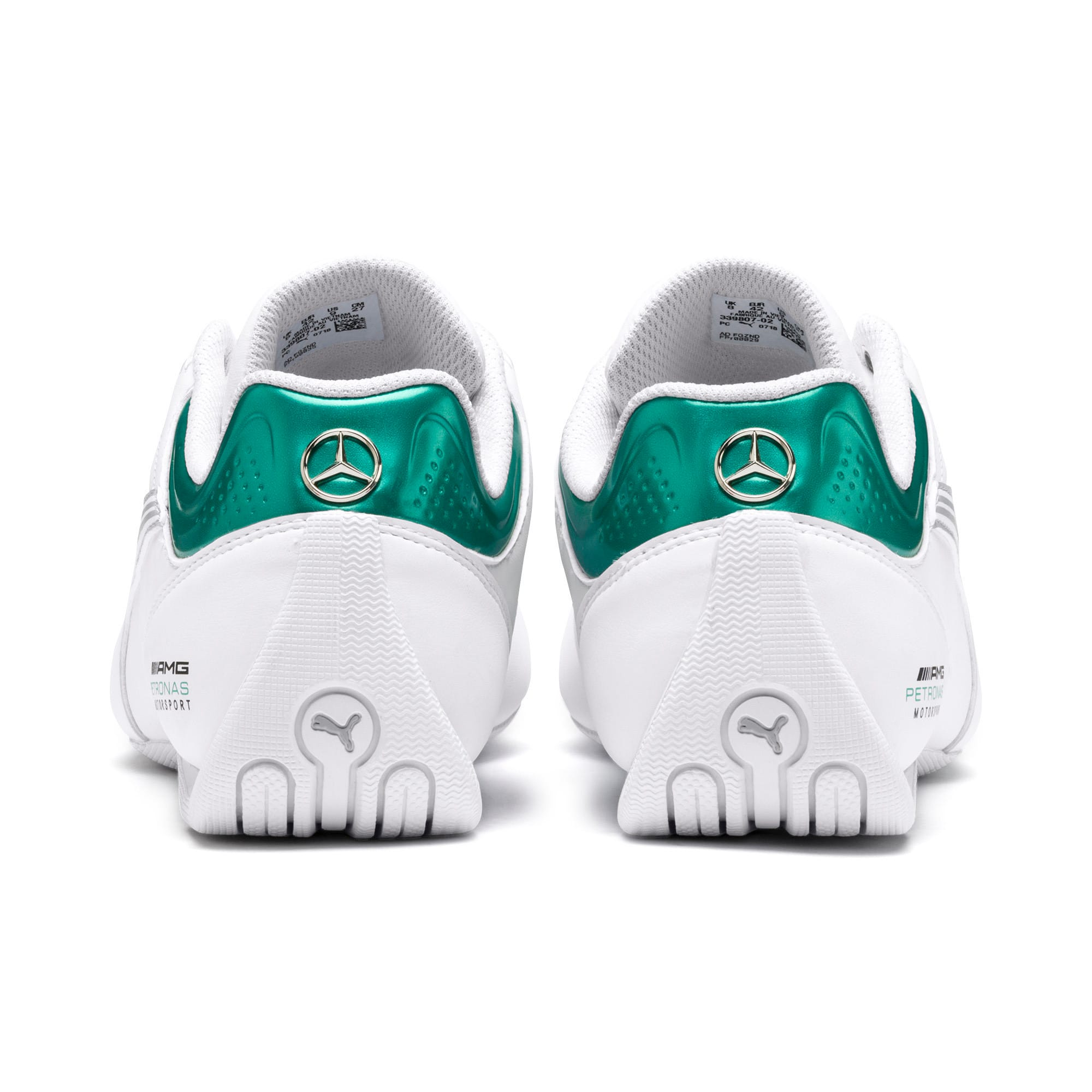Thumbnail 4 of Mercedes AMG Petronas Motorsport Future Kart Cat Trainers, Puma White-Mercedes Silver, medium