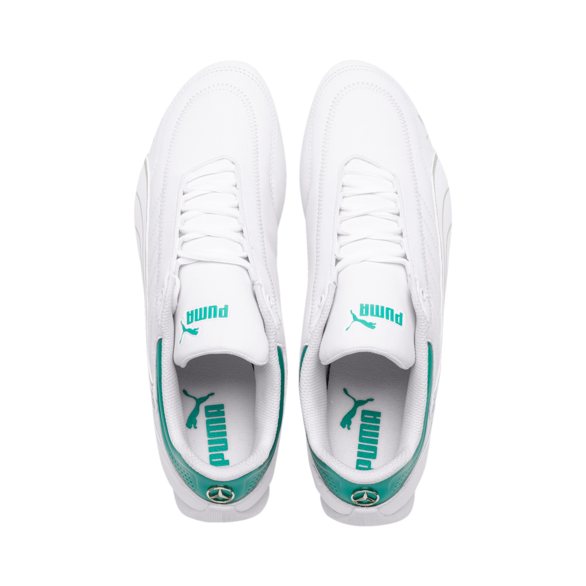 Thumbnail 7 of Mercedes AMG Petronas Motorsport Future Kart Cat Trainers, Puma White-Mercedes Silver, medium