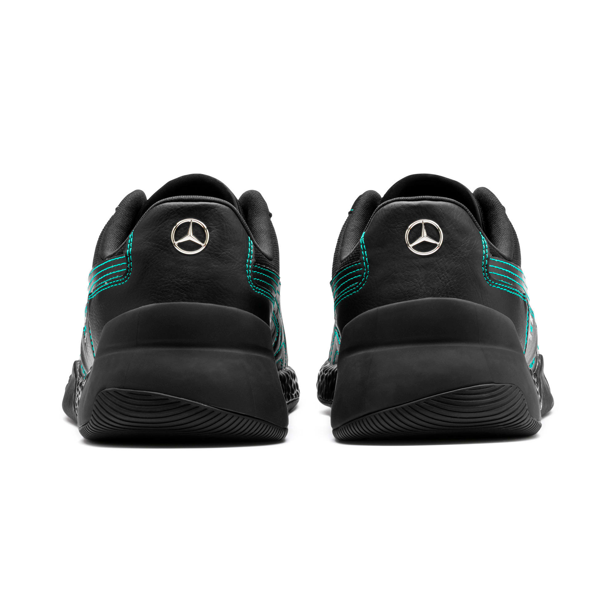 Thumbnail 4 of Mercedes AMG Petronas Speed HYBRID Running Shoes, Puma Black-Spectra Green, medium