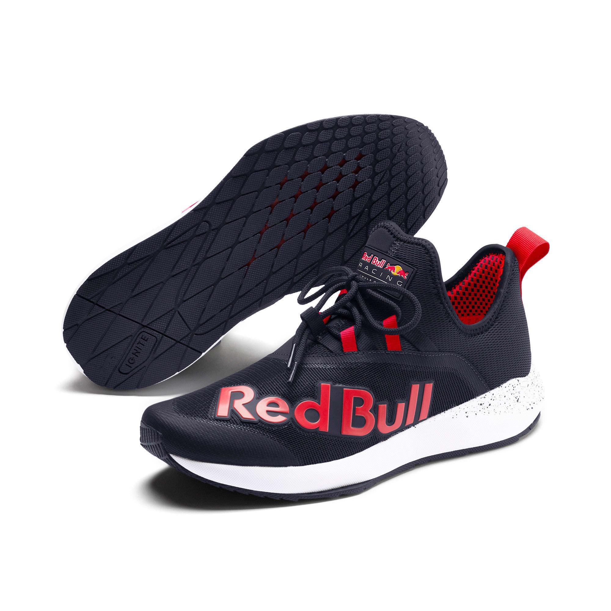 Thumbnail 3 of Red Bull Racing Evo Cat II IGNITE Trainers, NIGHT SKY-Chinese Red-White, medium