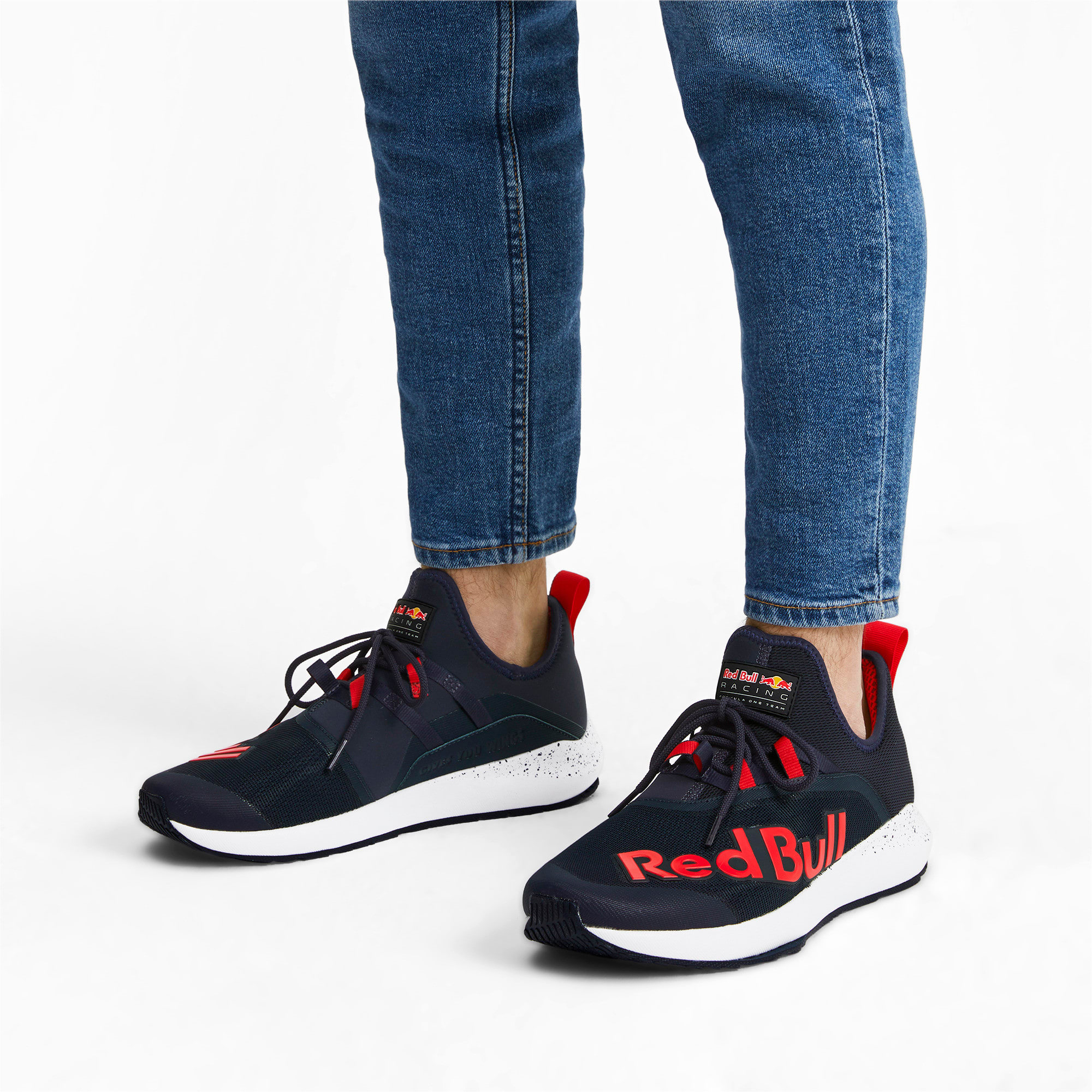 Thumbnail 2 of Basket Red Bull Racing Evo Cat II IGNITE pour homme, NIGHT SKY-Chinese Red-White, medium