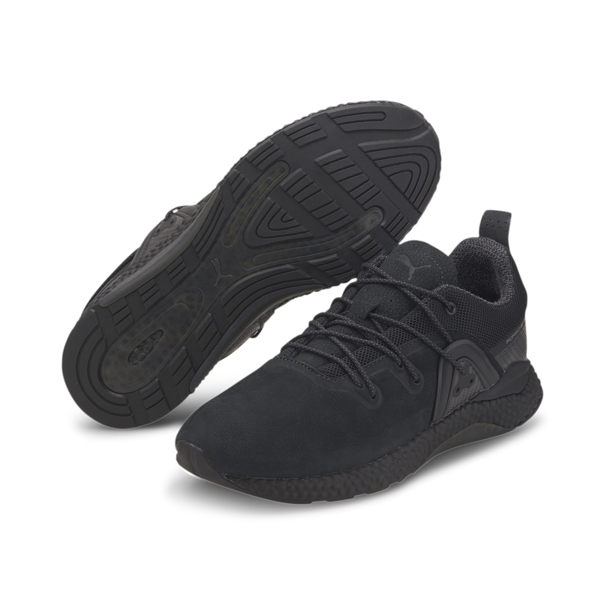 Thumbnail 3 of Porsche Design HYBRID Runner Men's Trainers, Jet Black-Jet Black, medium