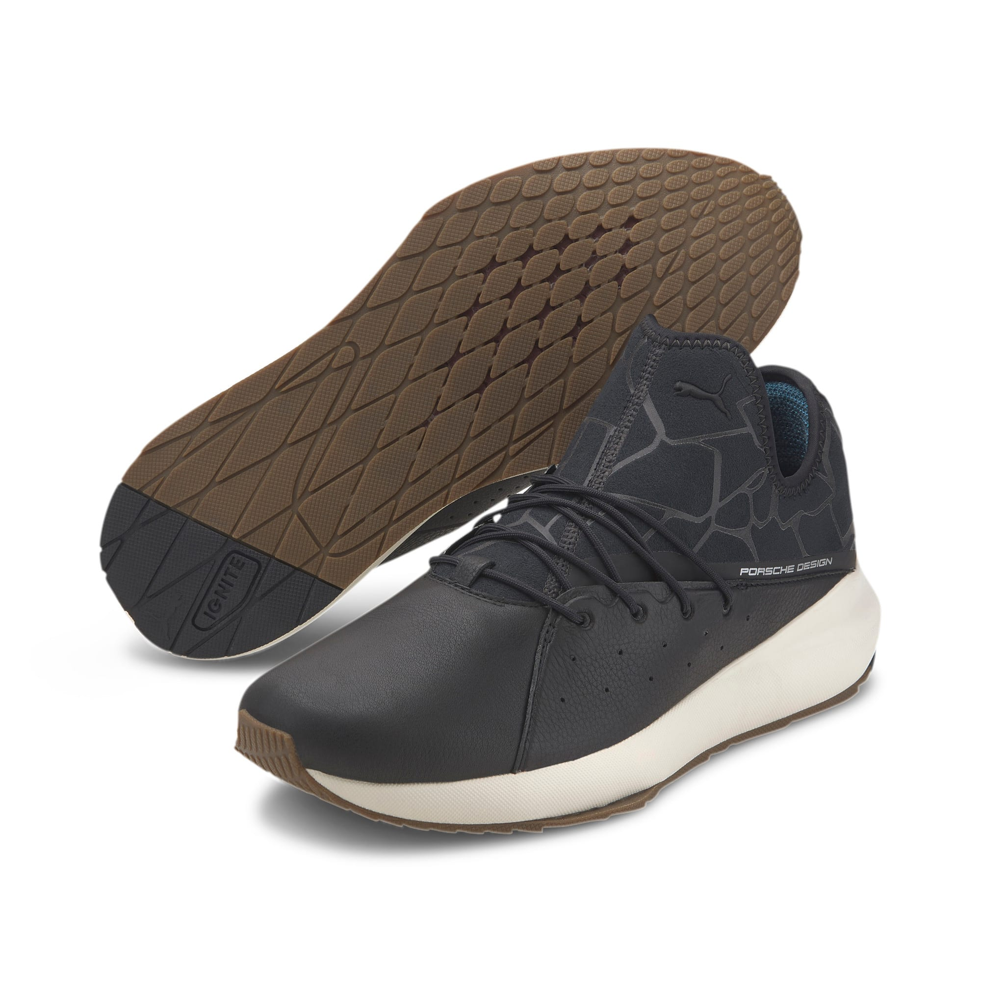 Thumbnail 3 of Porsche Design Evo Cat II Men's Trainers, JetBlack-JetBlack-WhisperWht, medium