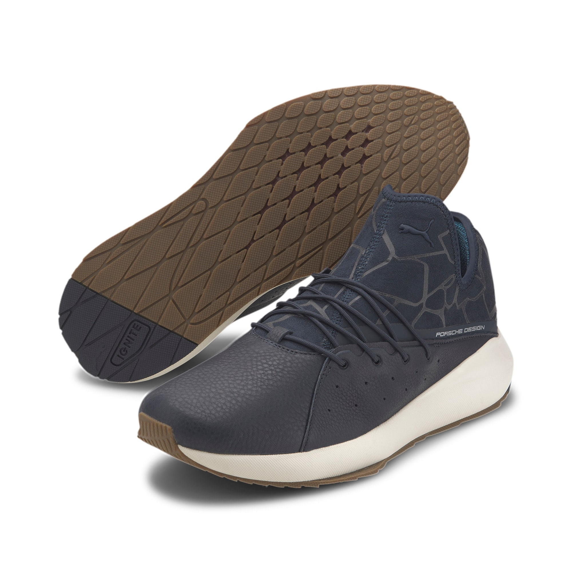 Thumbnail 3 of Porsche Design Evo Cat II Men's Trainers, Navy Blazer-Navy-WhisperW, medium