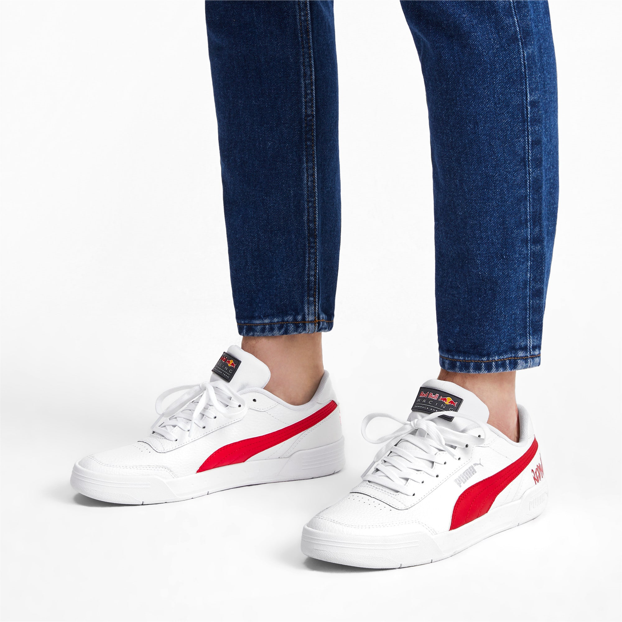 Thumbnail 2 of Red Bull Racing Caracal Trainers, Puma White-Chinese Red-White, medium-IND