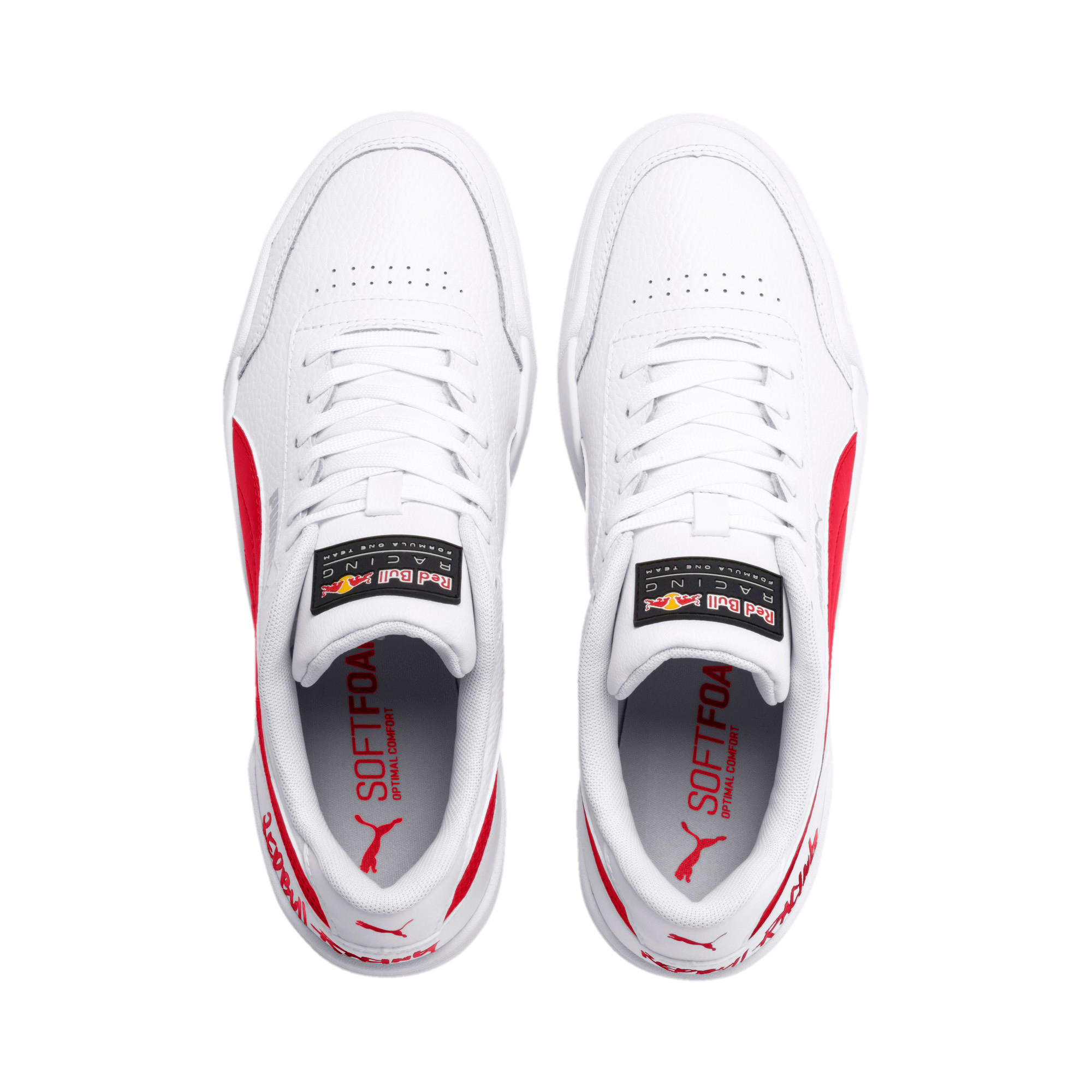 Thumbnail 8 of Red Bull Racing Caracal Trainers, Puma White-Chinese Red-White, medium-IND