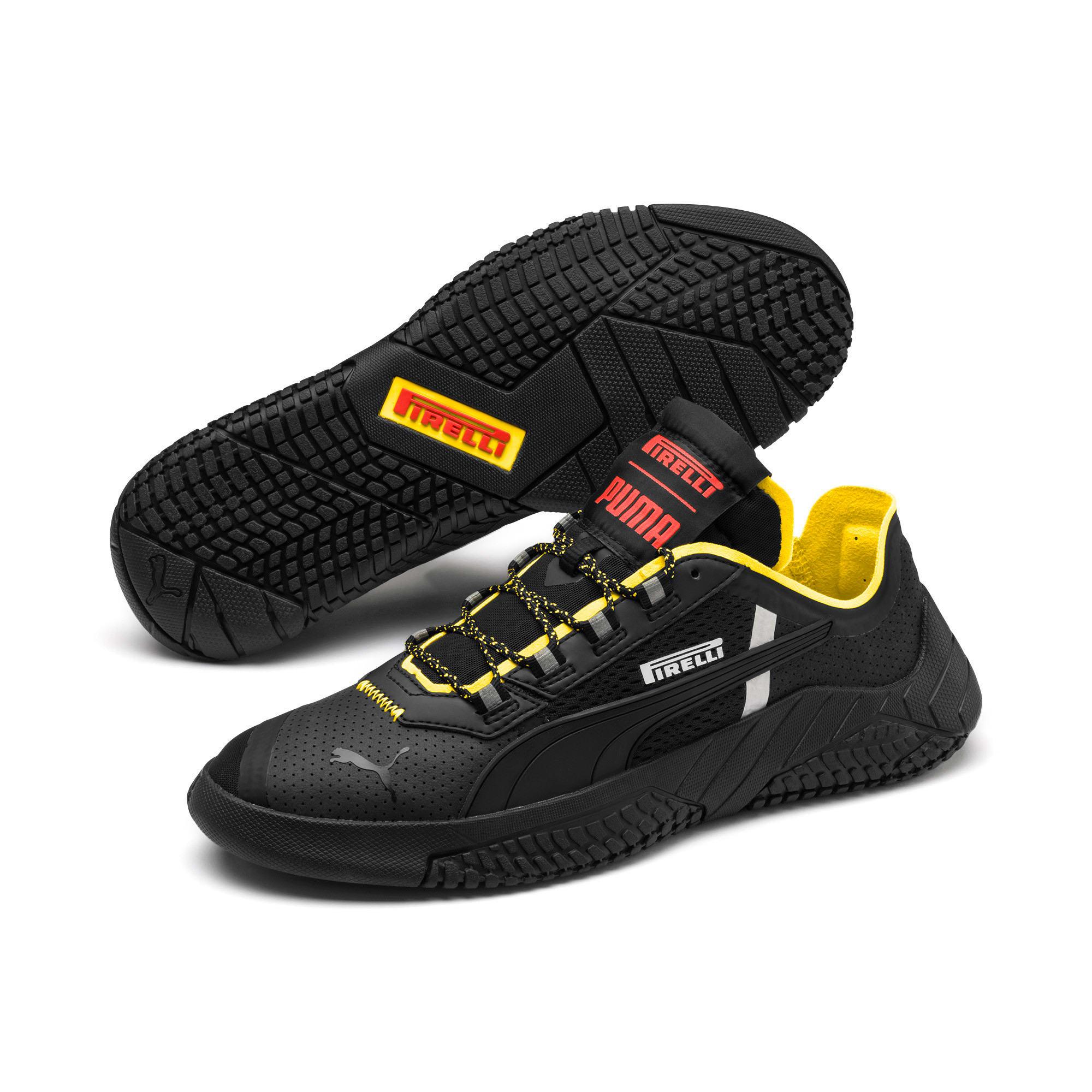 Thumbnail 2 of Replicat-X Pirelli Motorsport Shoes, Black-Black-Cyber Yellow, medium